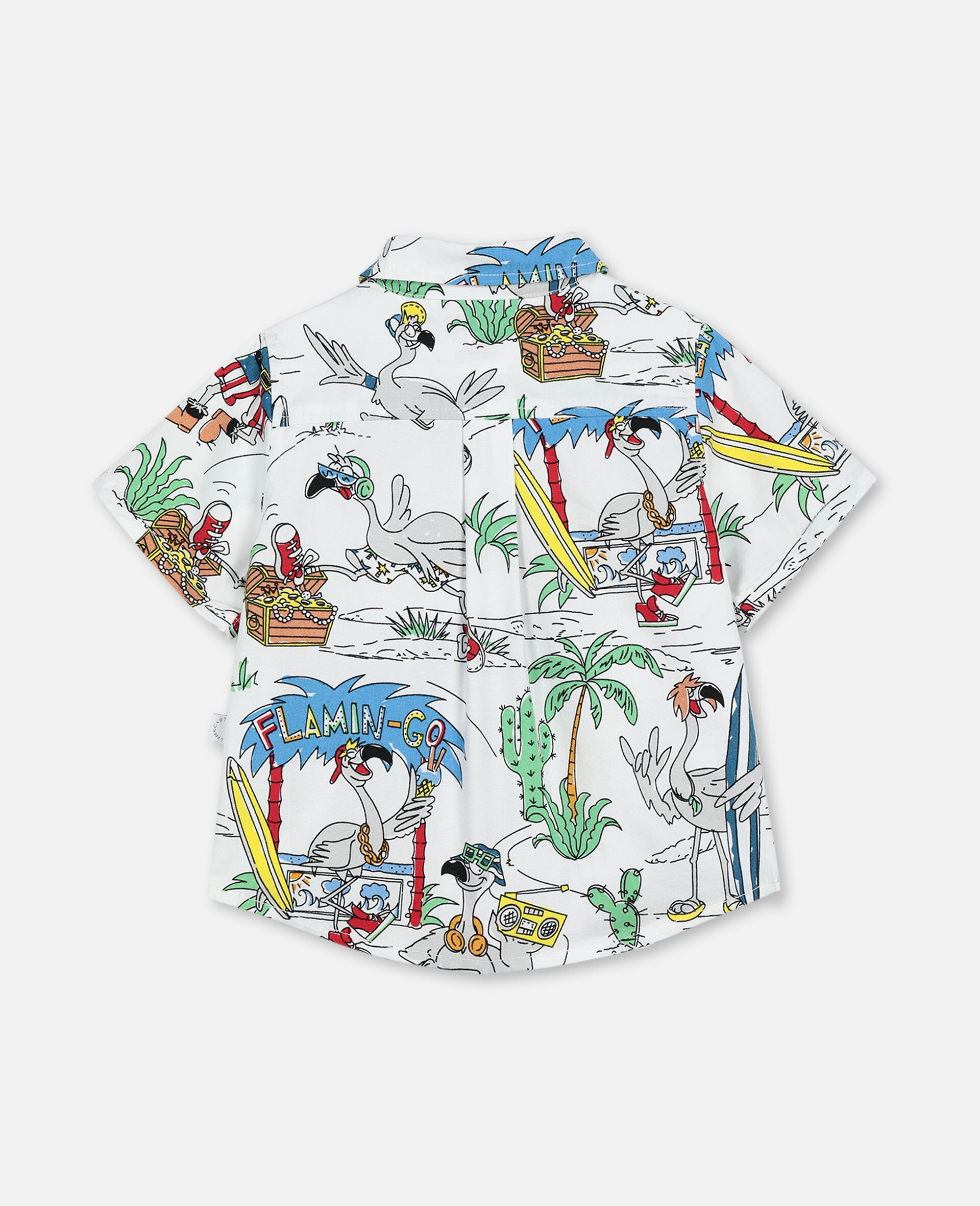 Flamingo Land Cotton Shirt -Multicolour-large image number 3