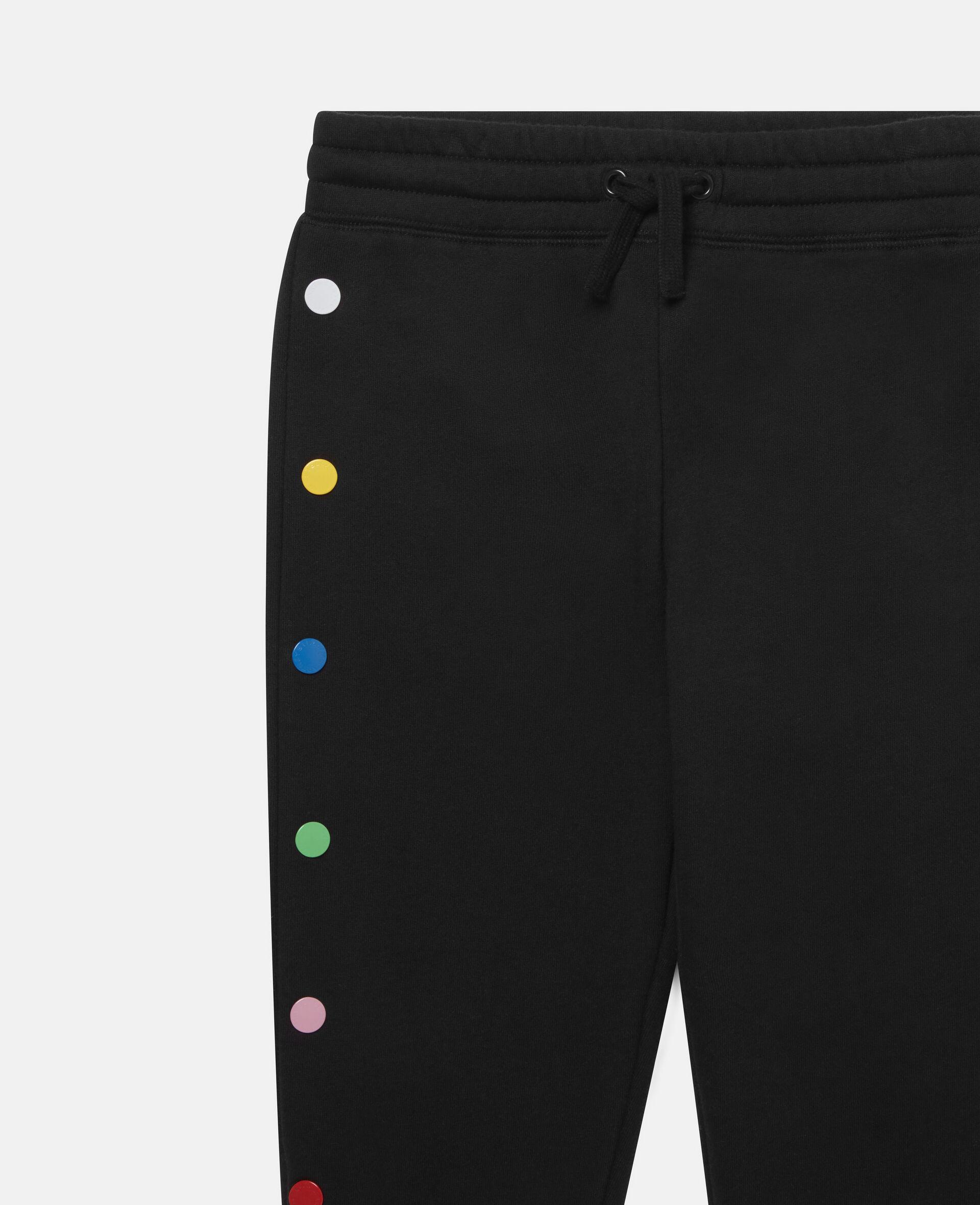 Pantalon de jogging en polaire-Noir-large image number 1