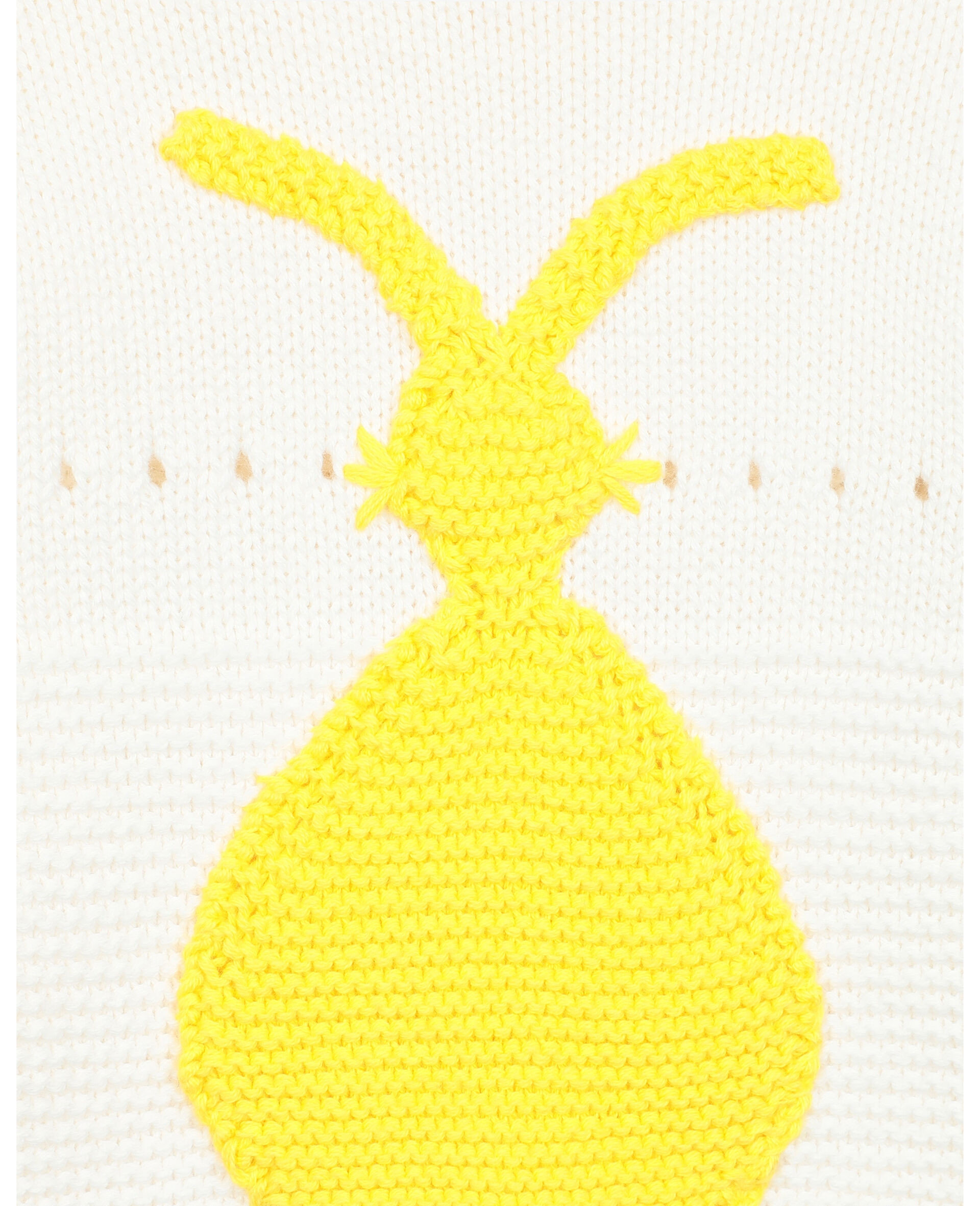 Bunny Knit Sweater -White-large image number 2
