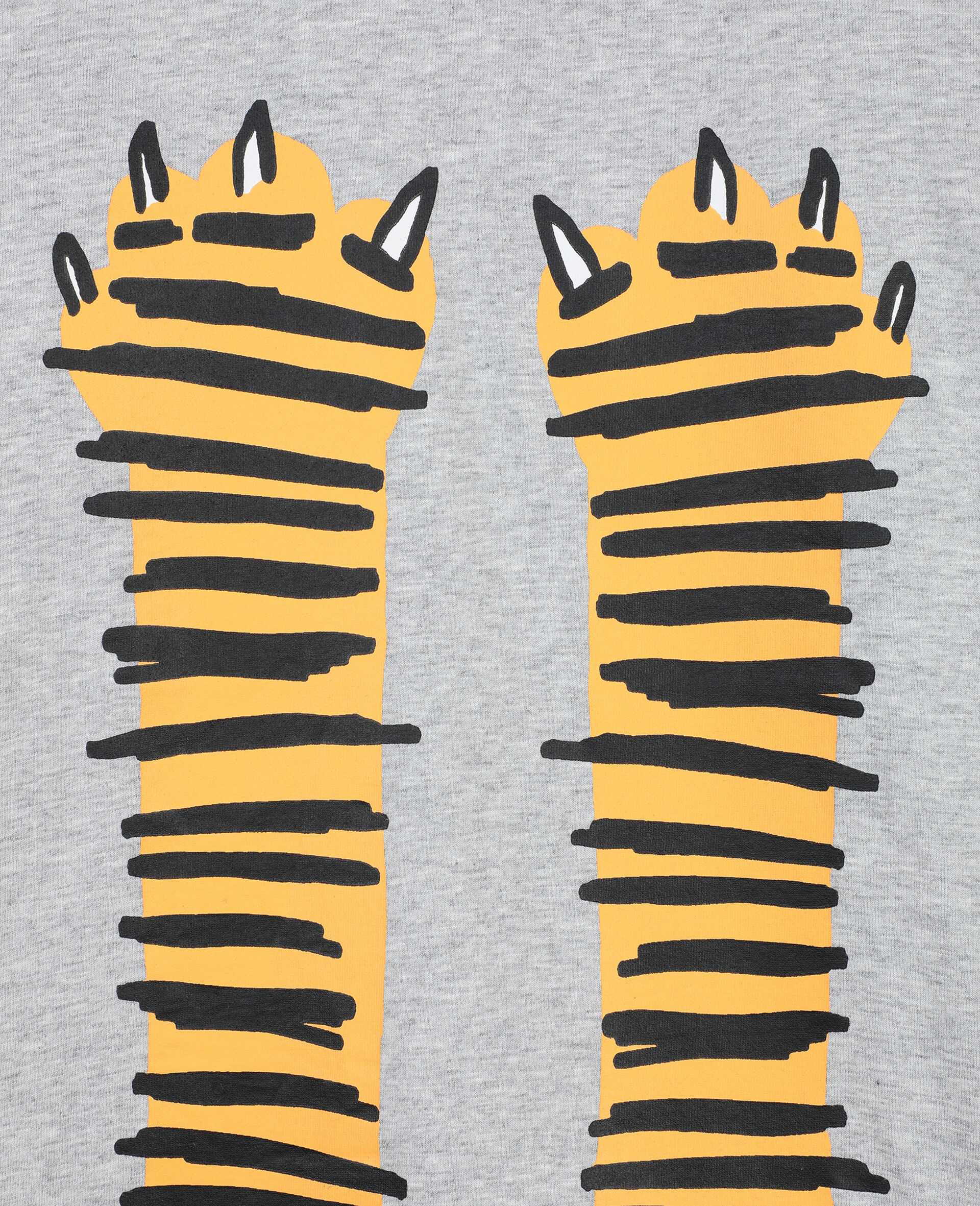 Paws Up Cotton T-shirt -Grey-large image number 1