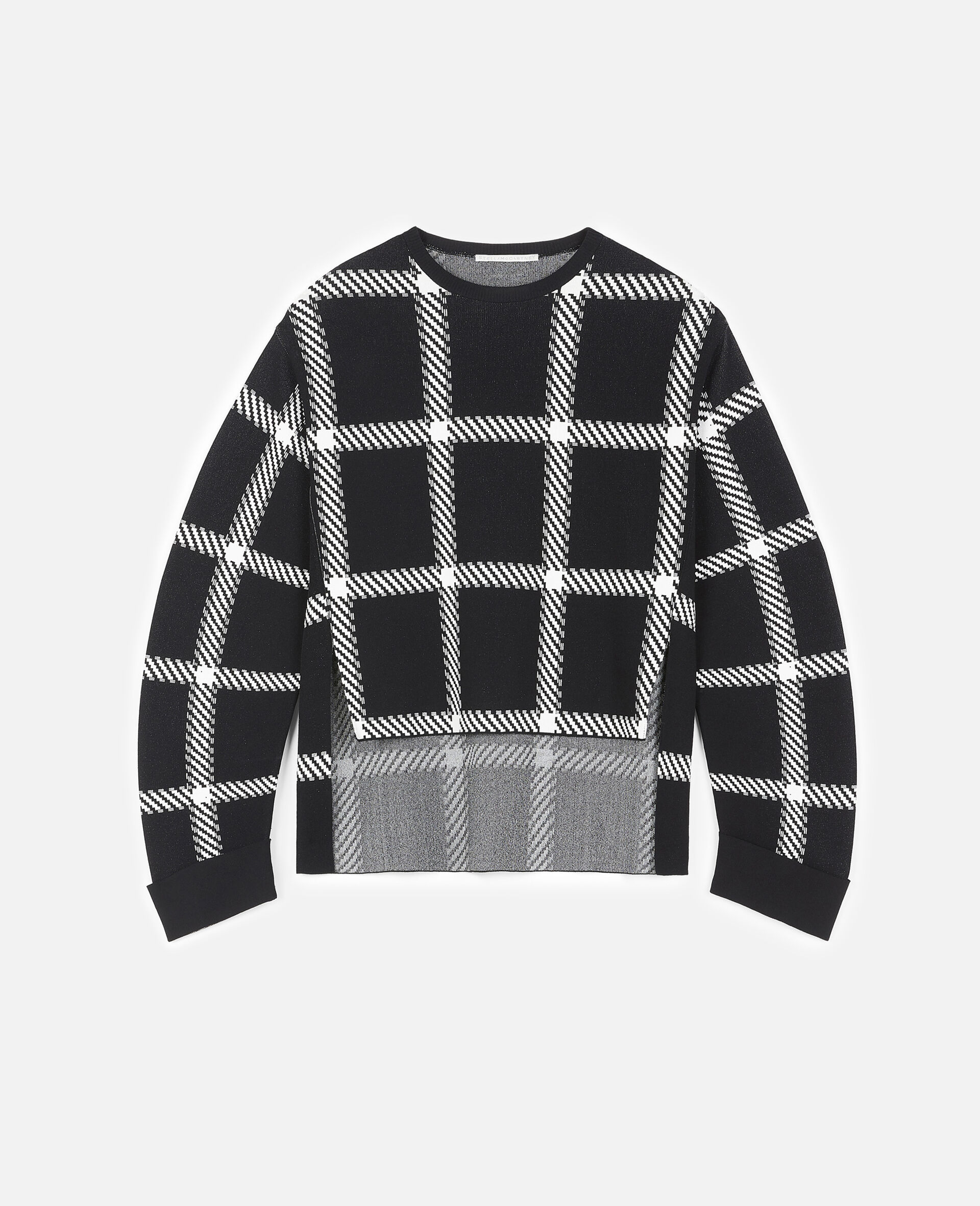 Knit Check Jumper-Multicolour-large image number 0