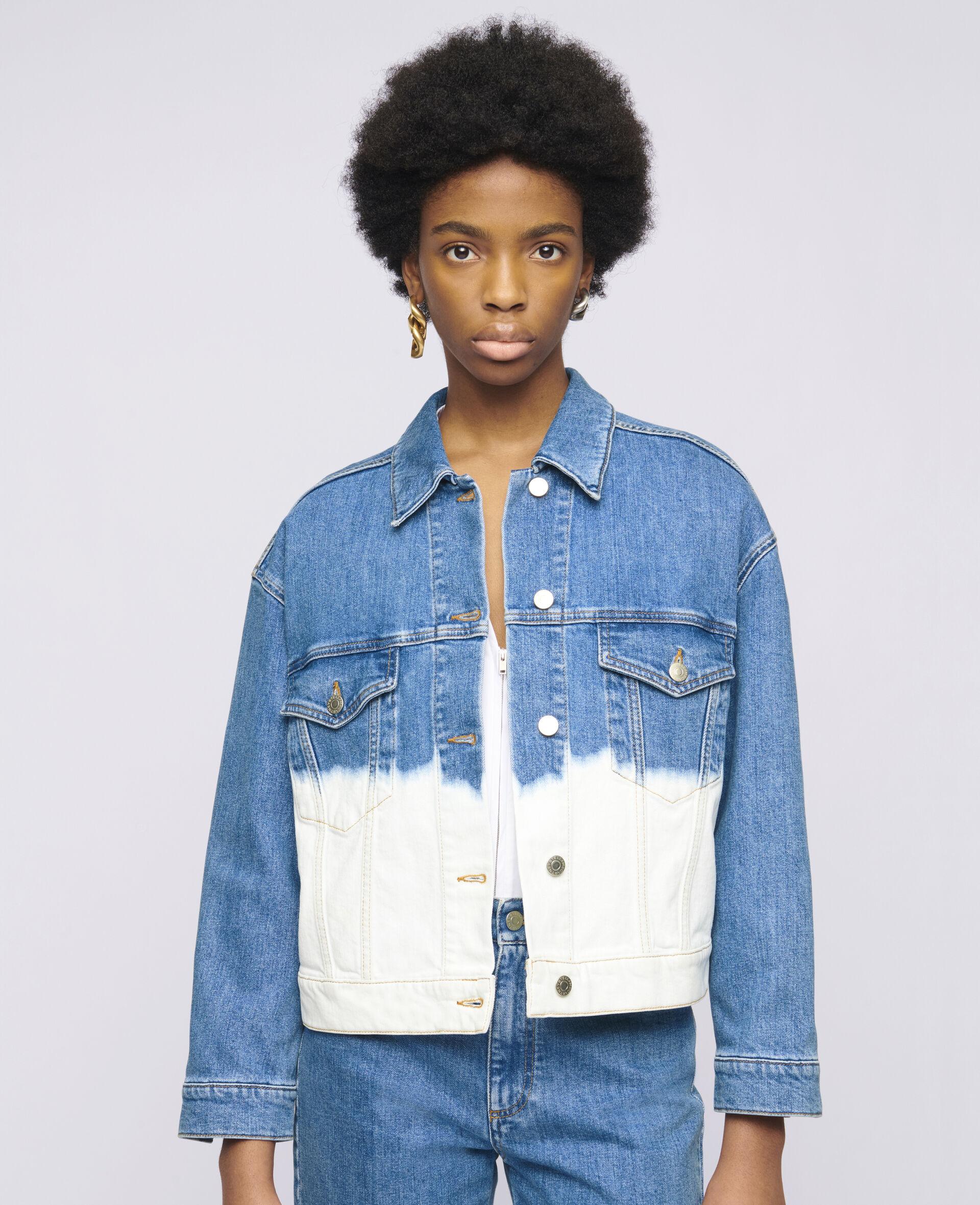 Dip Faded Denim Jacket -Blue-large image number 3