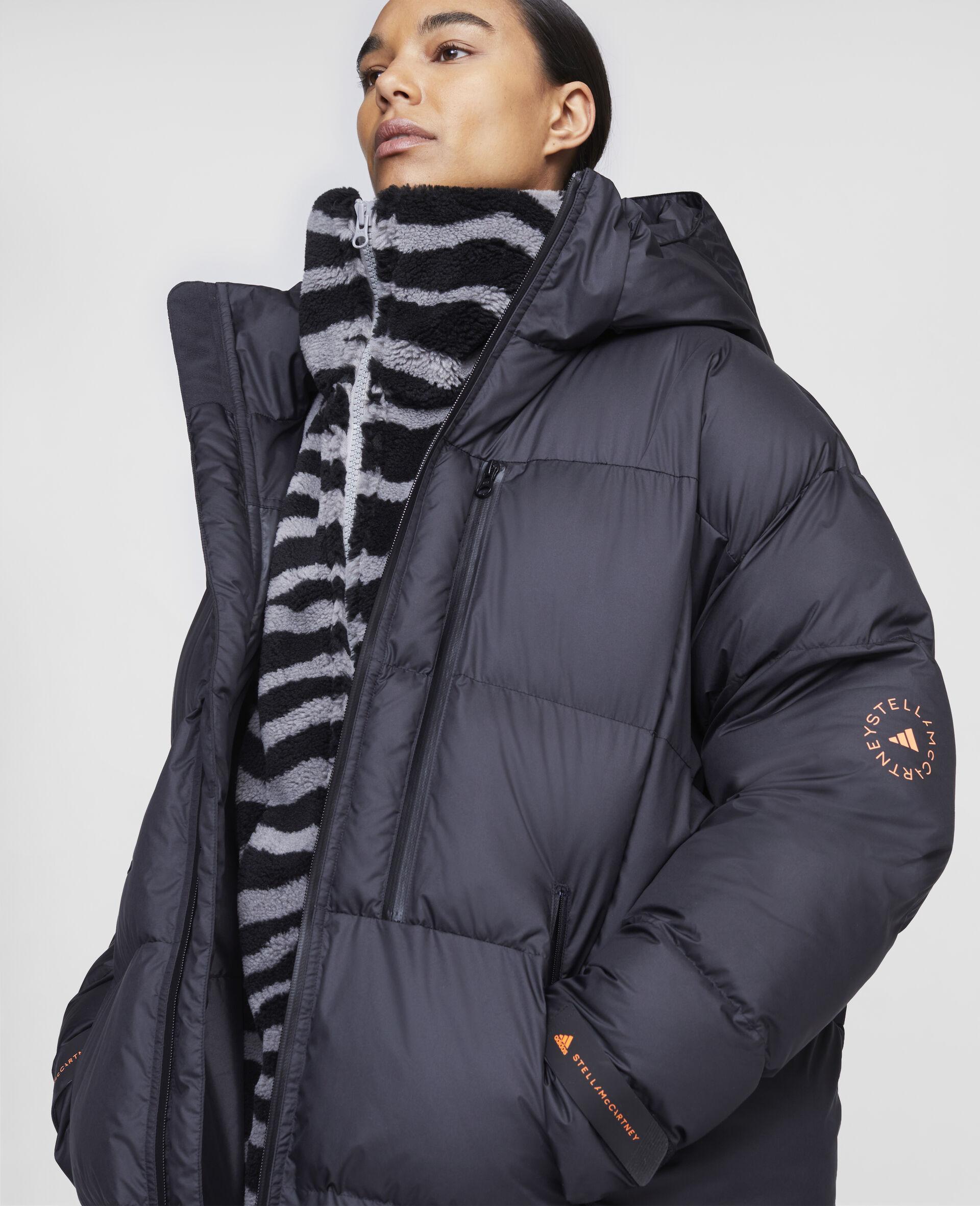 Long Training Puffer Jacket-Black-large image number 3