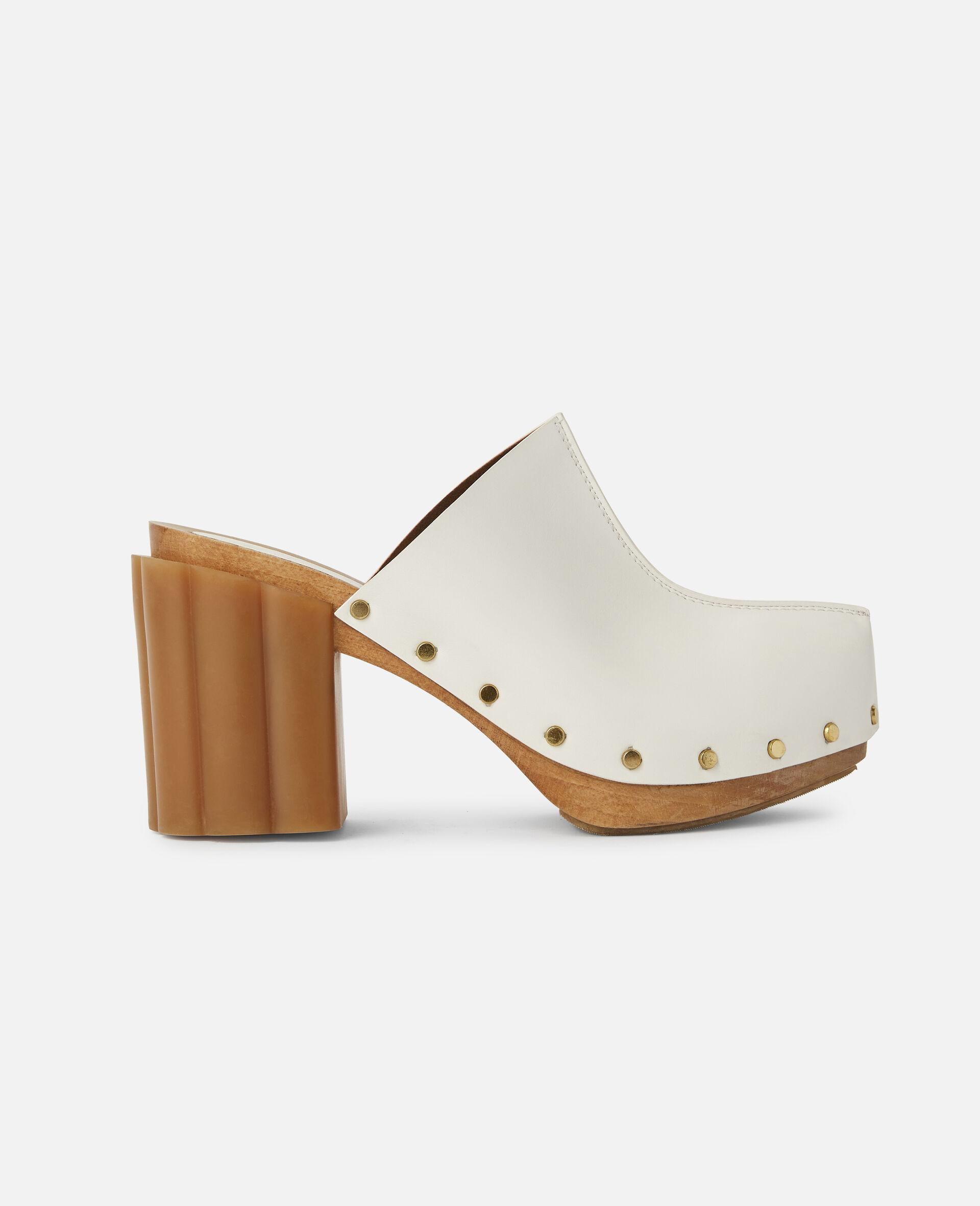 Sandales Daisy cloutées-Blanc-large image number 0