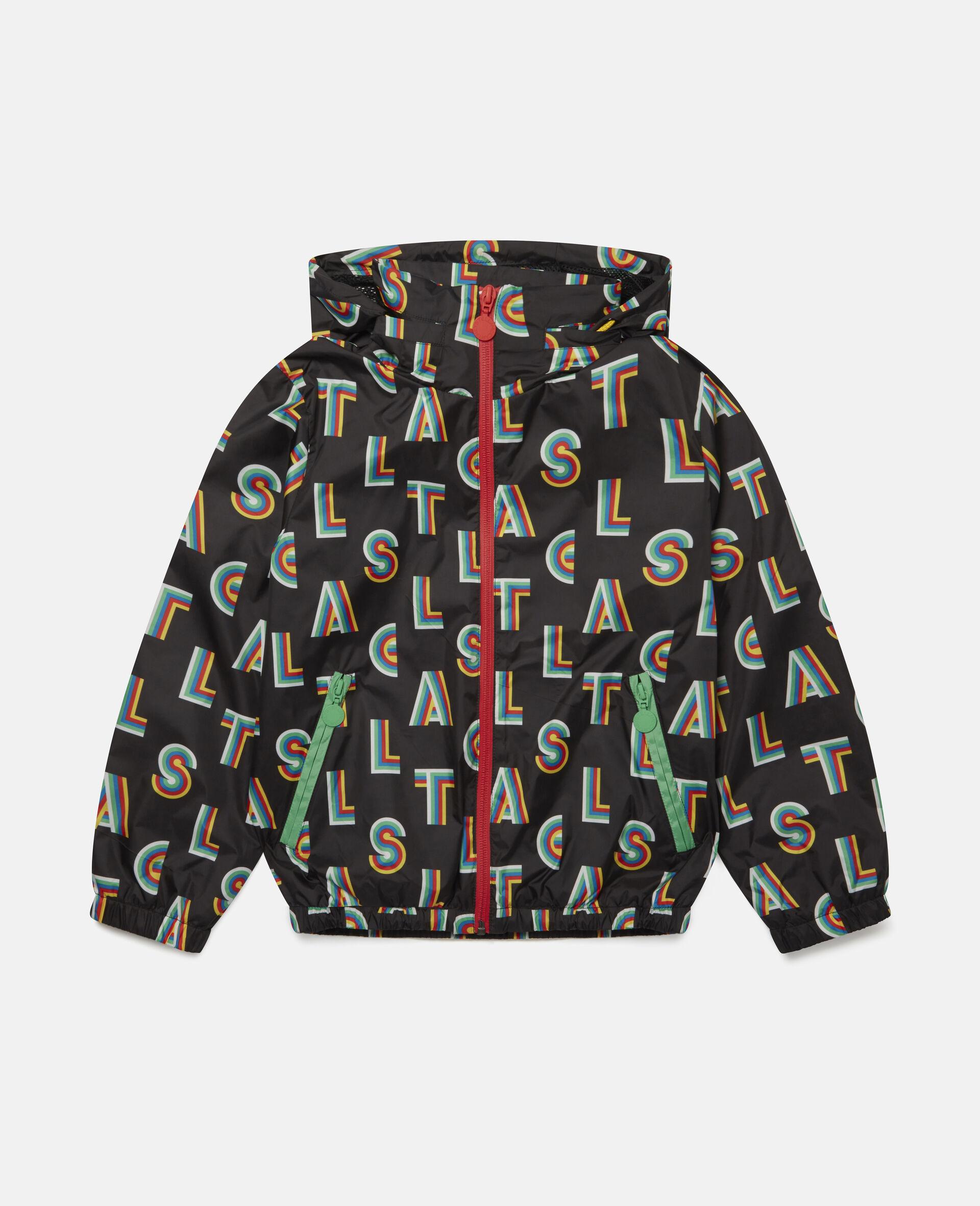 Veste à capuche à rayures Stella -Noir-large image number 0