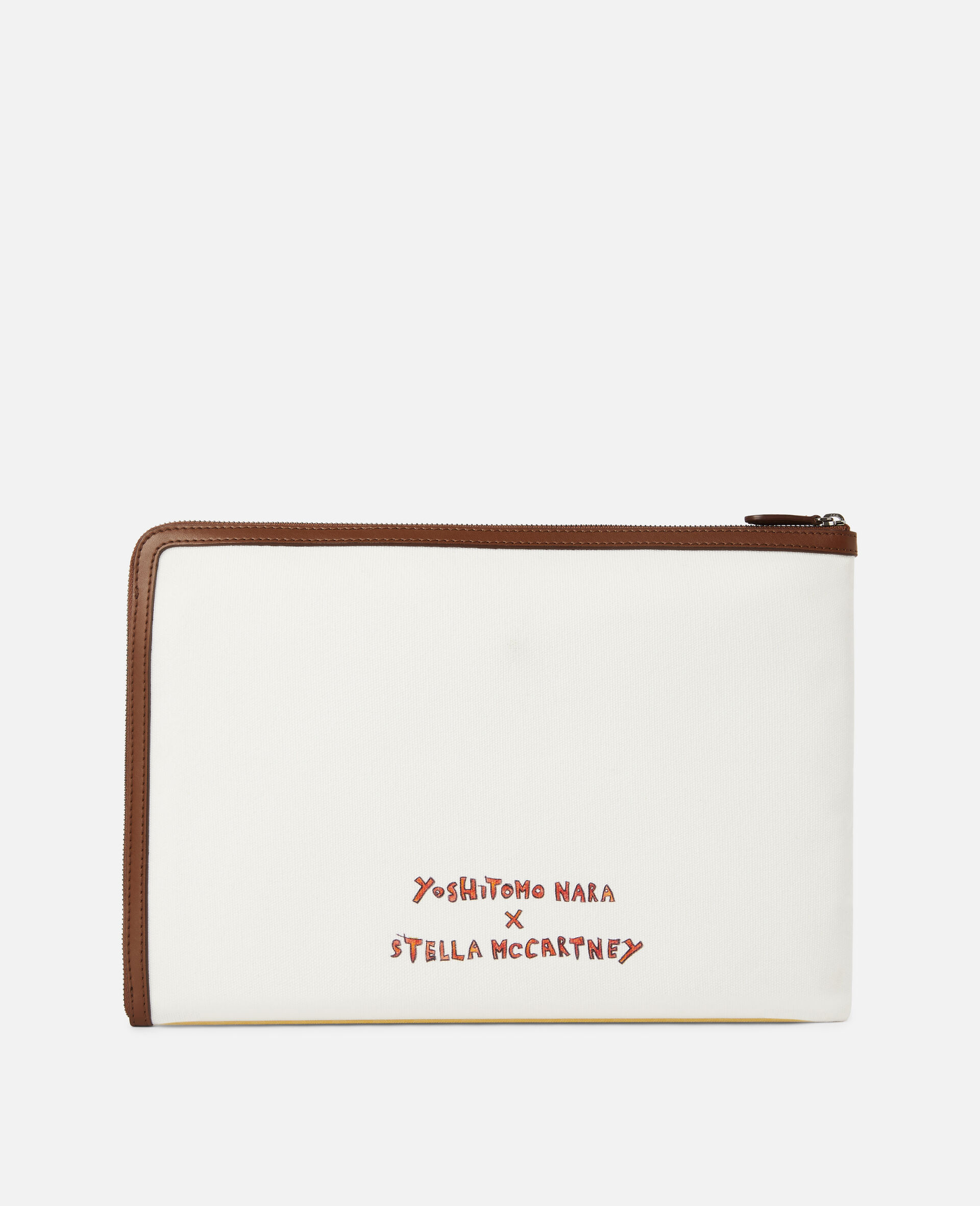 Nara Cotton Canvas Pouch -Grey-large image number 2