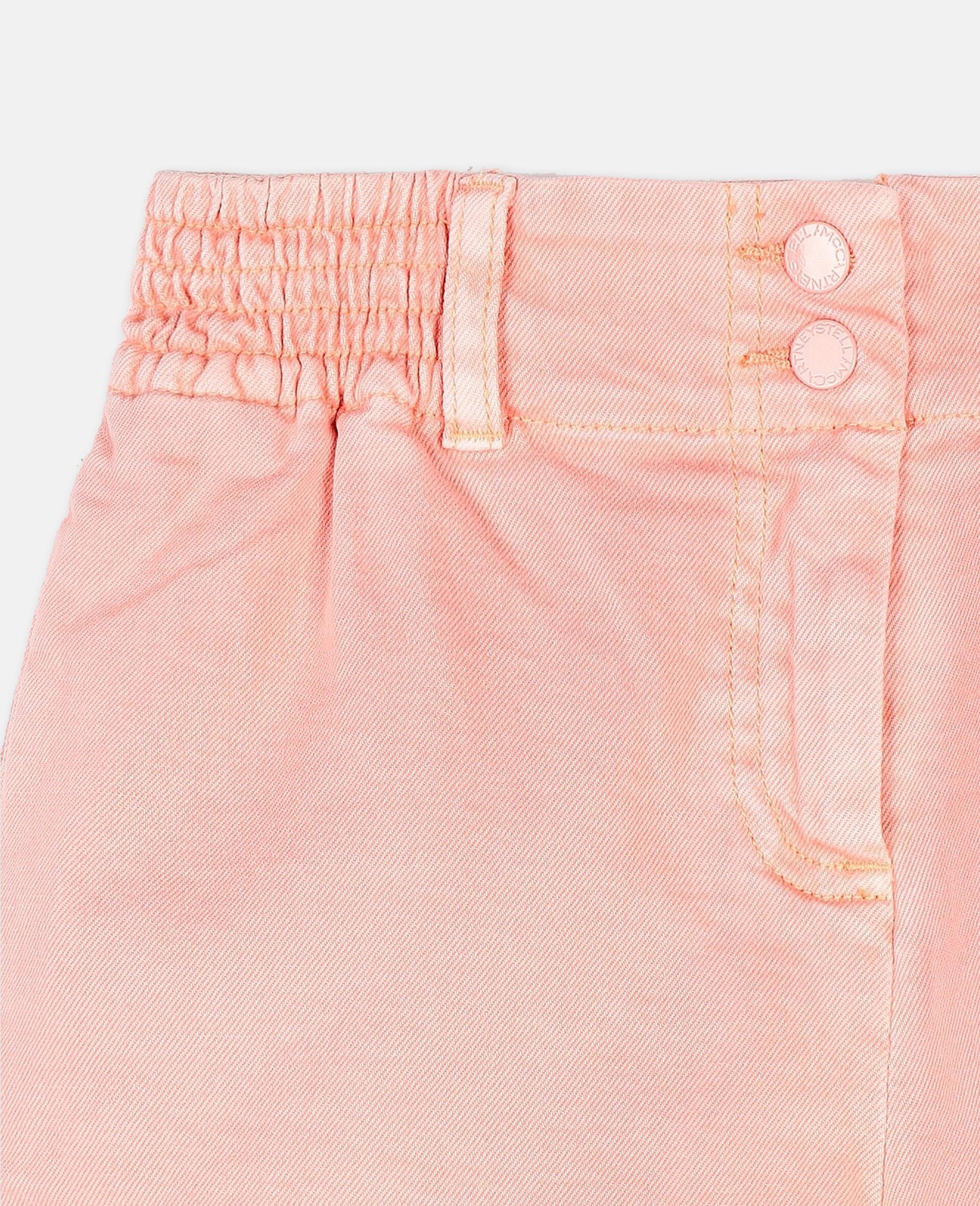 Denim Coral Shorts -Pink-large image number 1