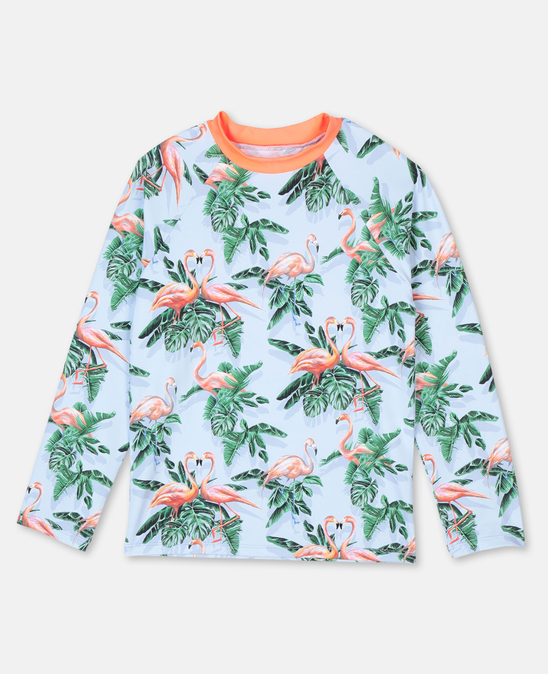 Painty Flamingo Swim T-shirt -Green-large image number 0