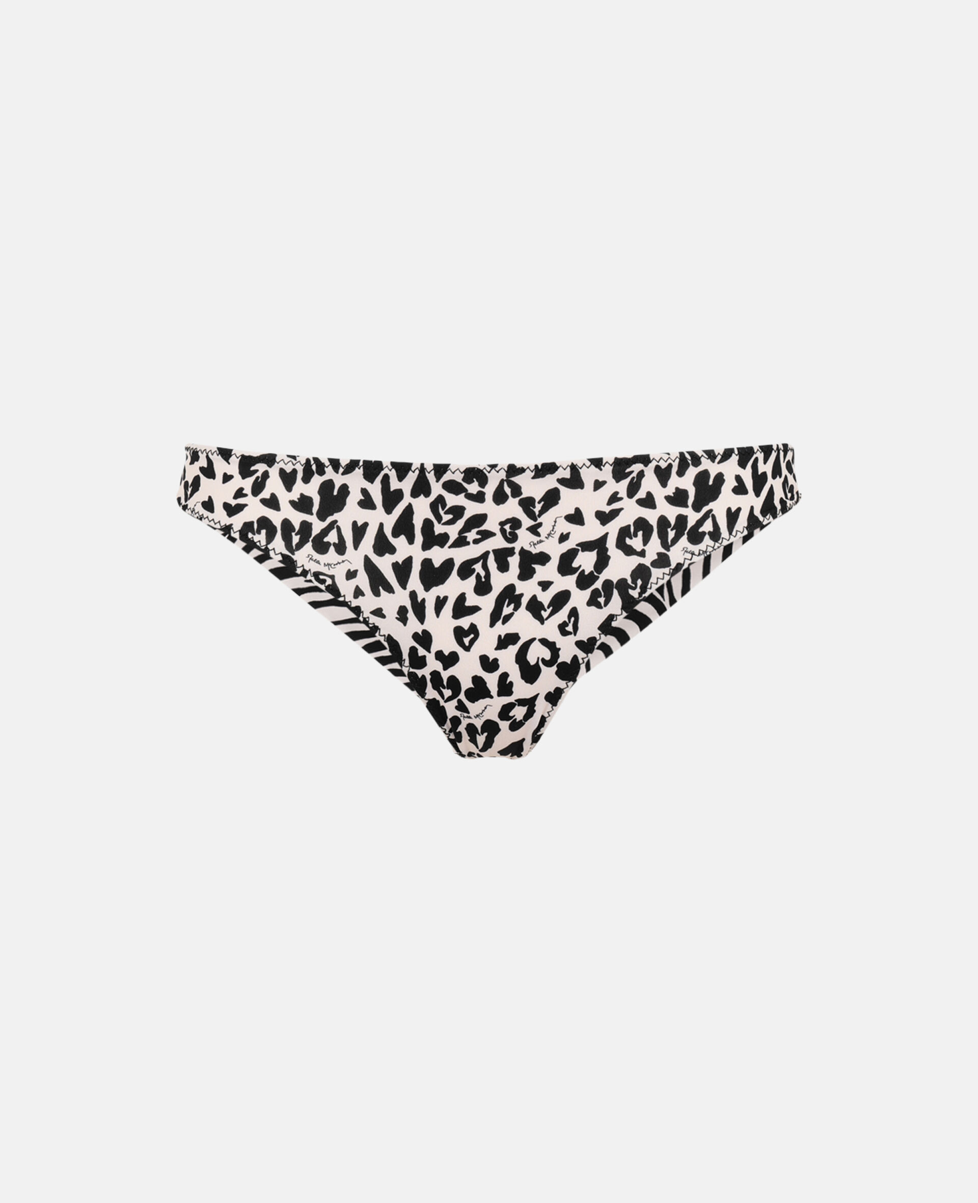 Bas de bikini brésilien à imprimé mix animalier-Noir-large image number 0