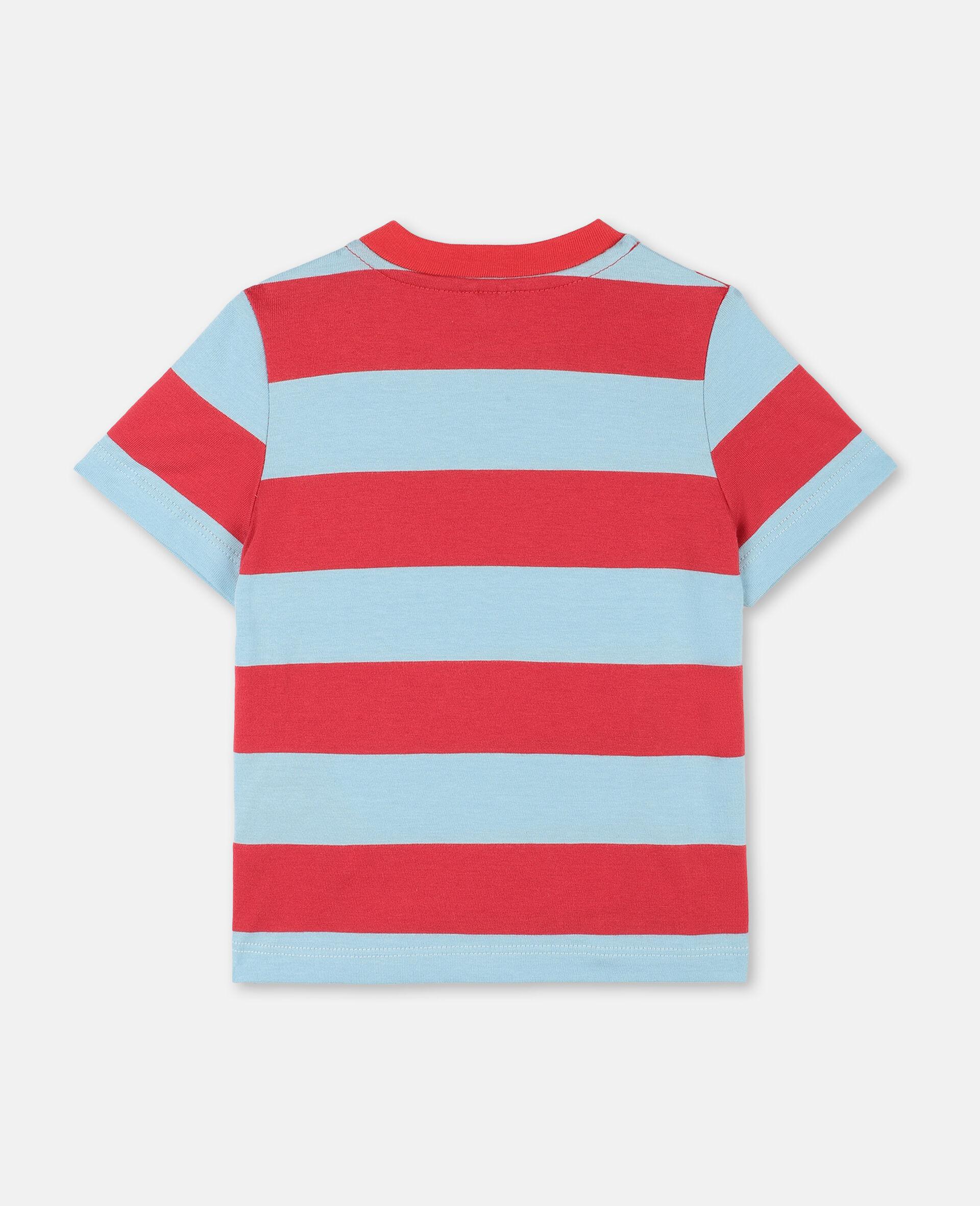 T-shirt en coton avec motif flamants roses -Rouge-large image number 3