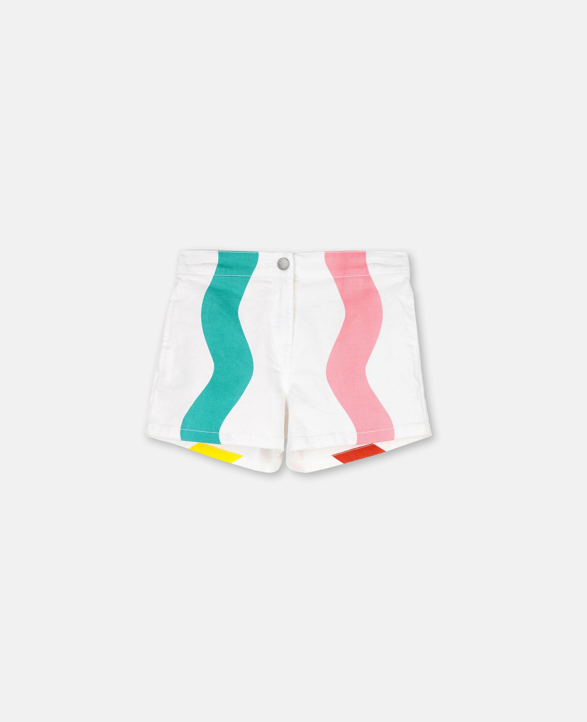 Swiggle Denim Shorts -White-large image number 0