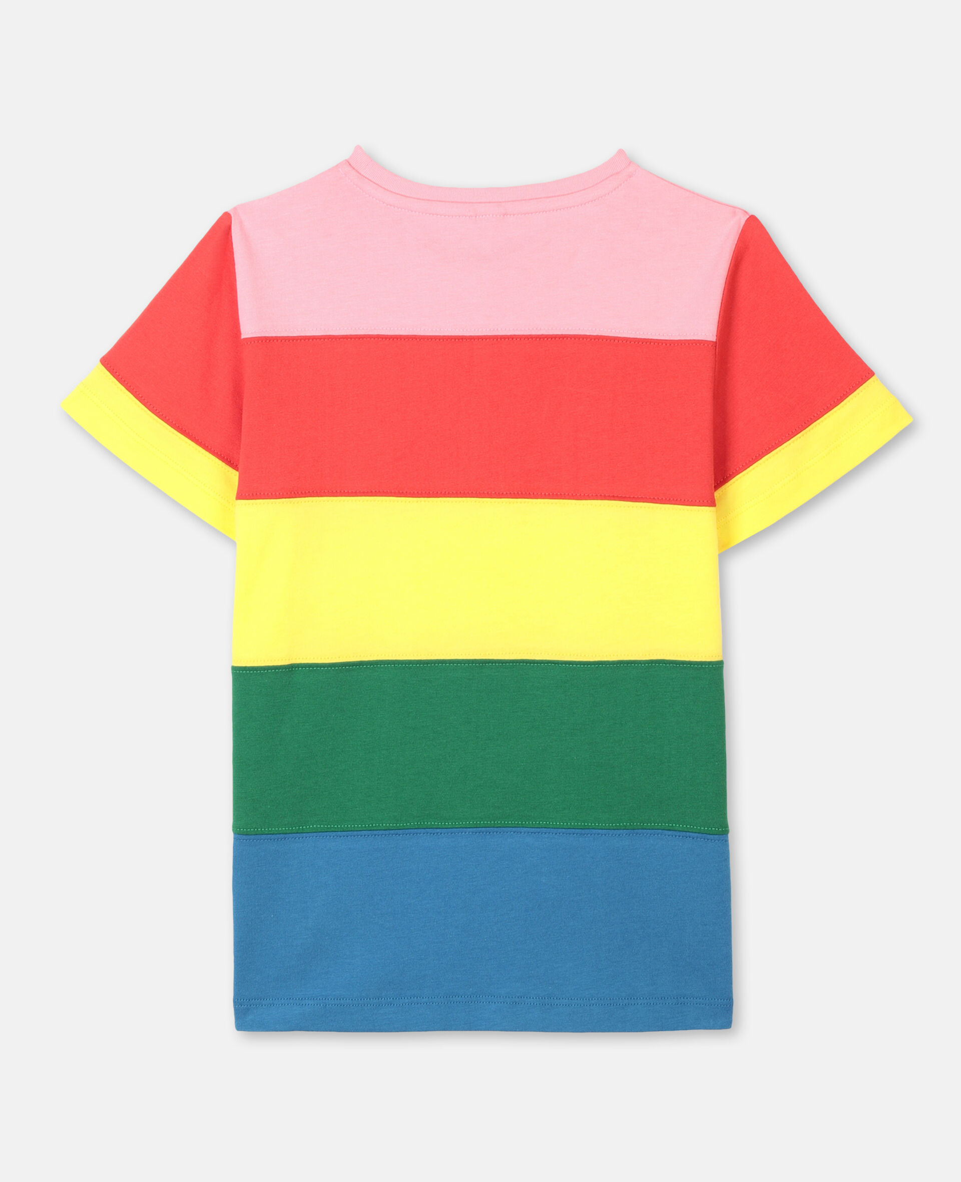 Striped Cotton T-shirt-Multicolour-large image number 3