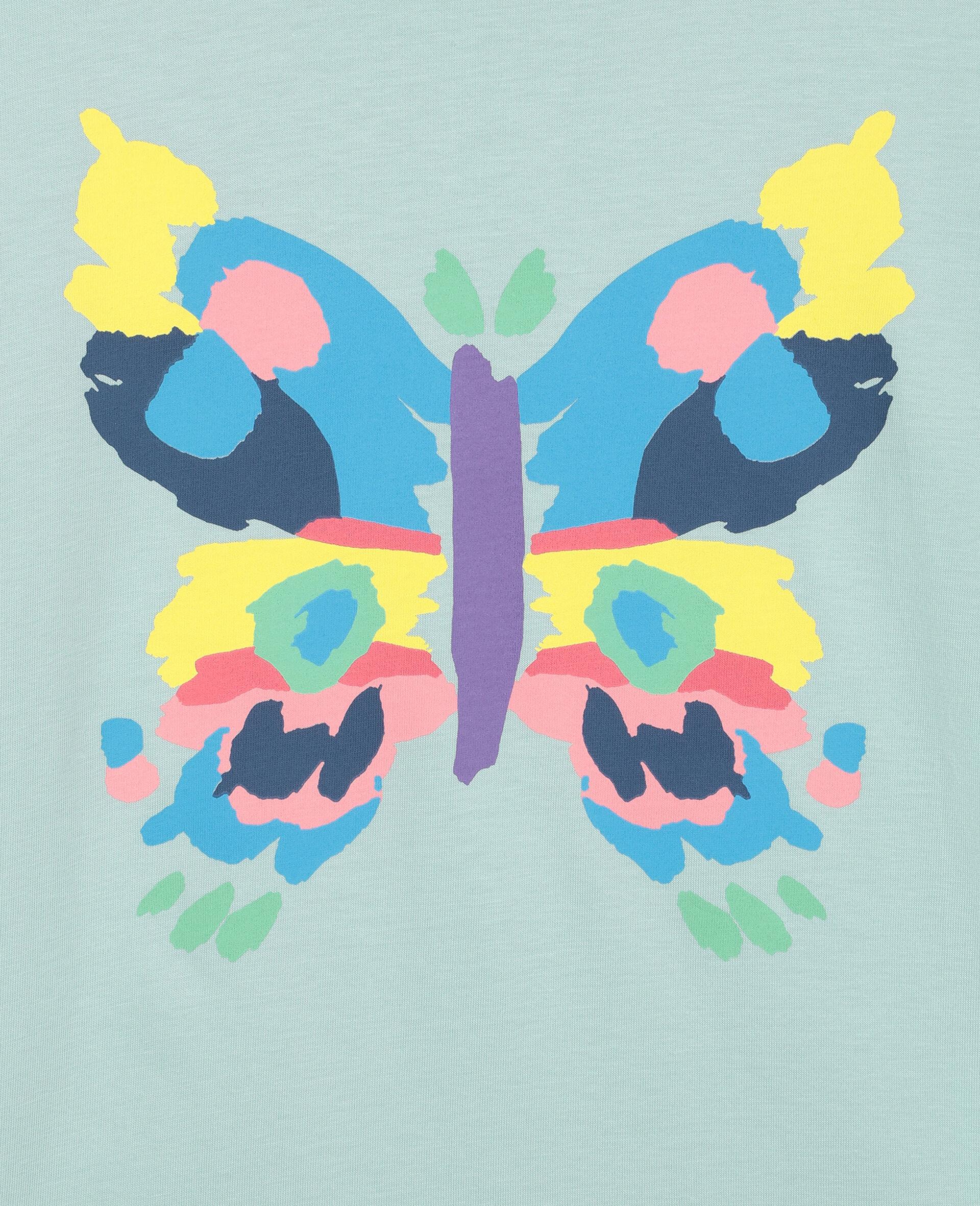 Baumwoll-T-Shirt mit Schmetterling-Print-Grün-large image number 1