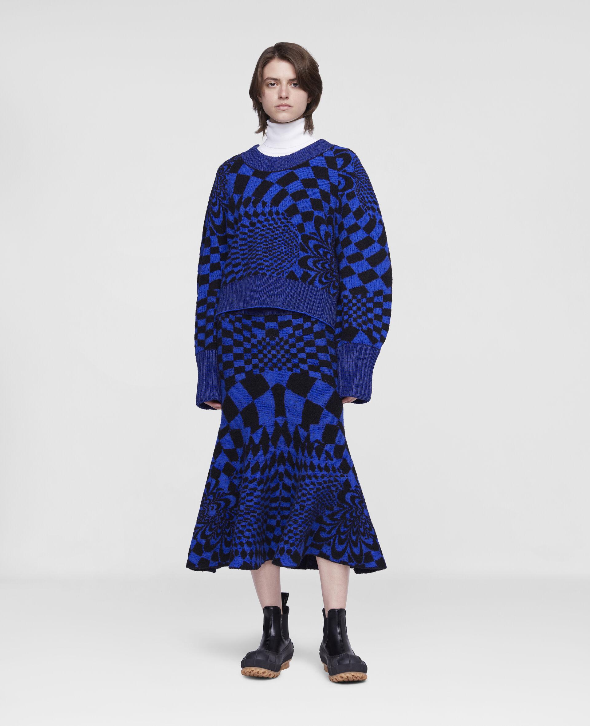 Geometric Pattern Skirt-Multicolour-large image number 1