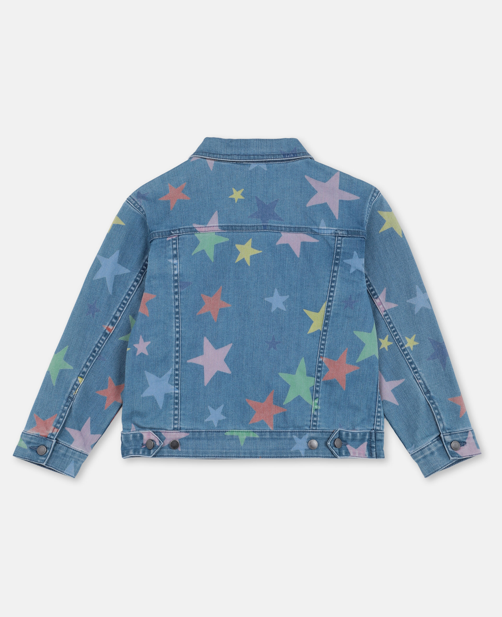 Multicolour Stars Denim Jacket -Multicolour-large image number 3