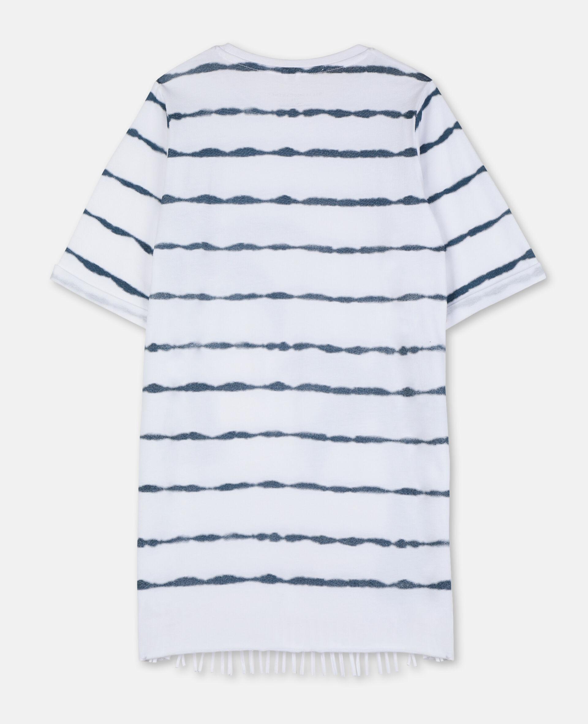 Robe en coton avec imprimé palmiers-Blanc-large image number 3