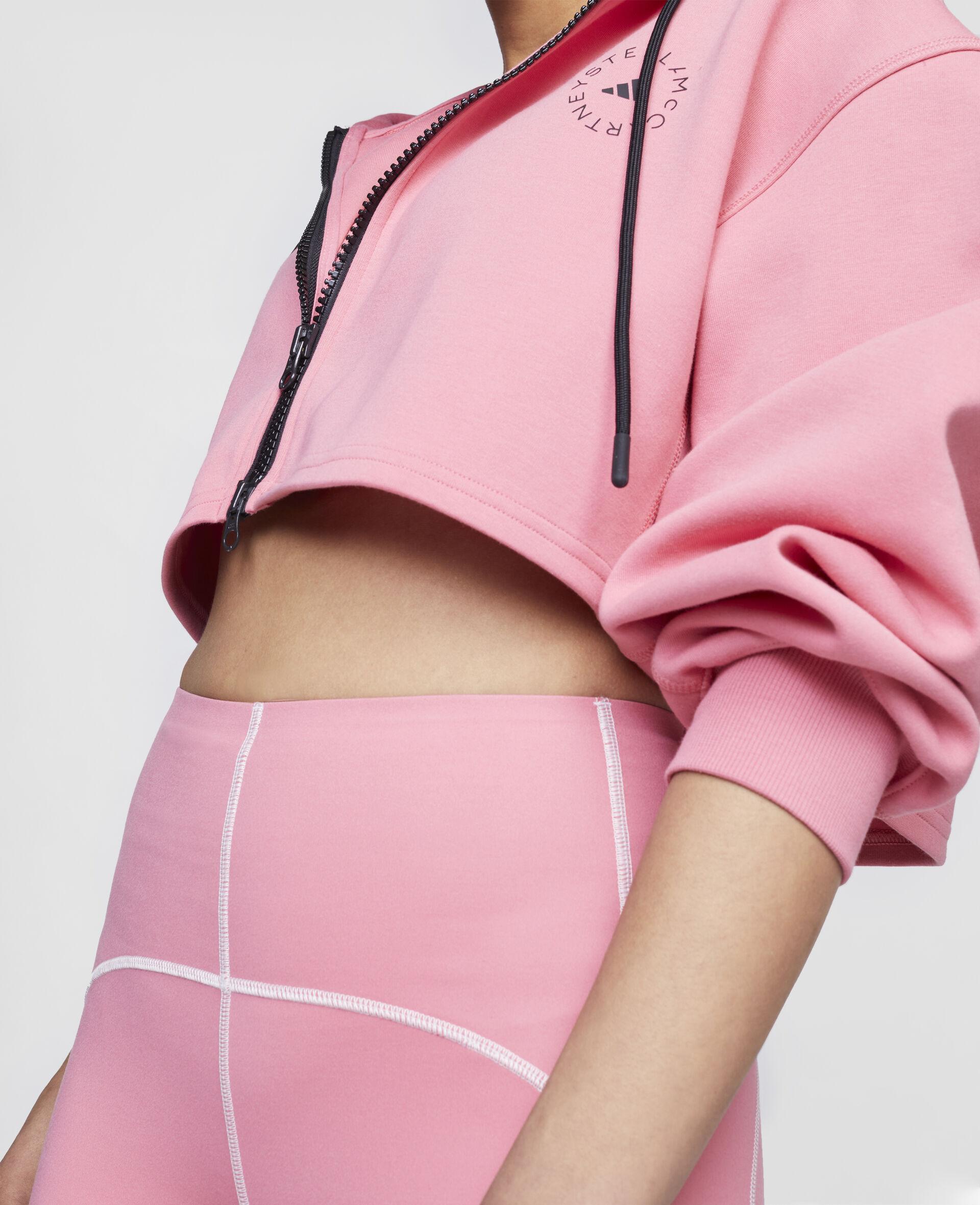 Pink Training Crop Hoodie-Pink-large image number 3