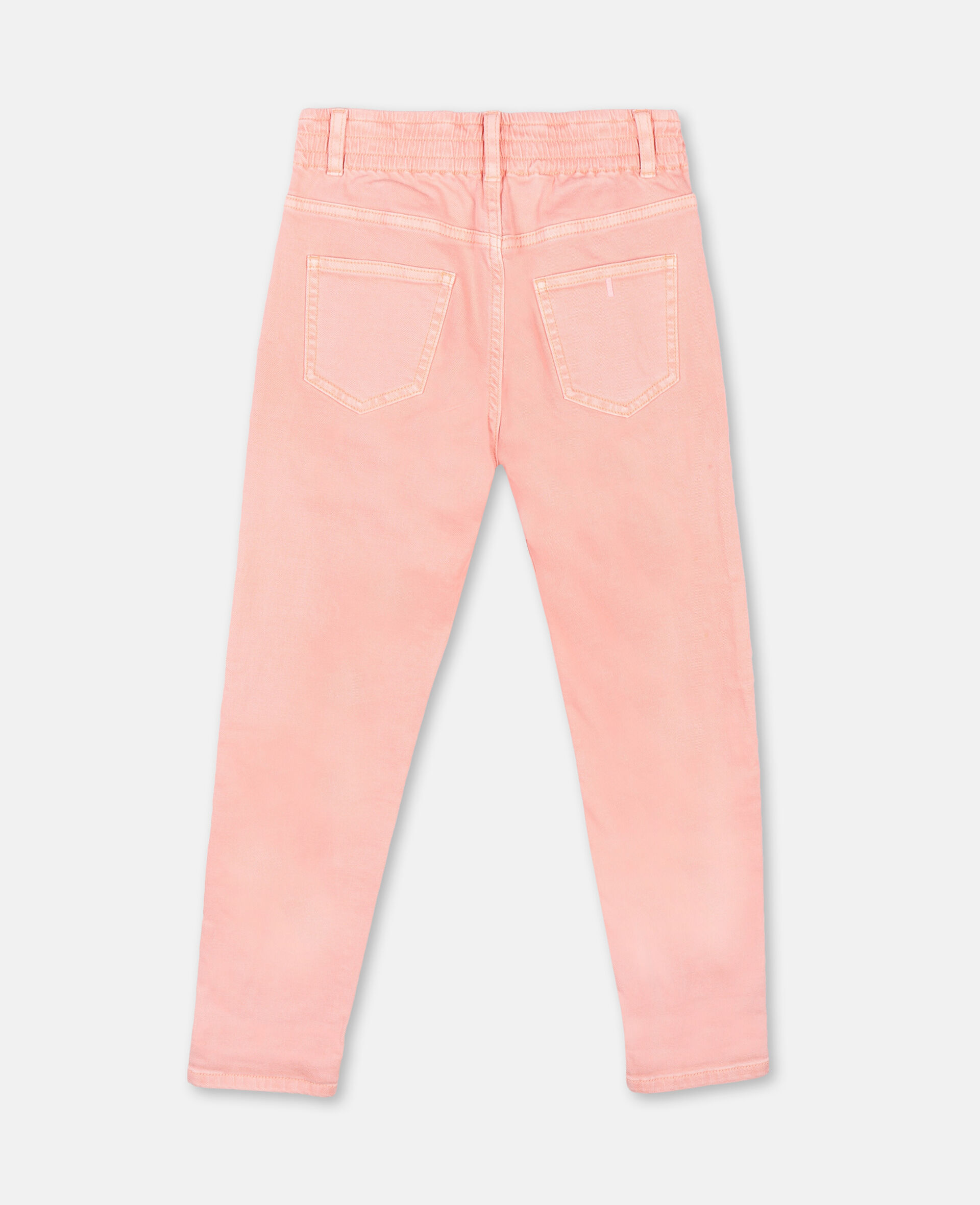 Mom Denim Trousers-Pink-large image number 3