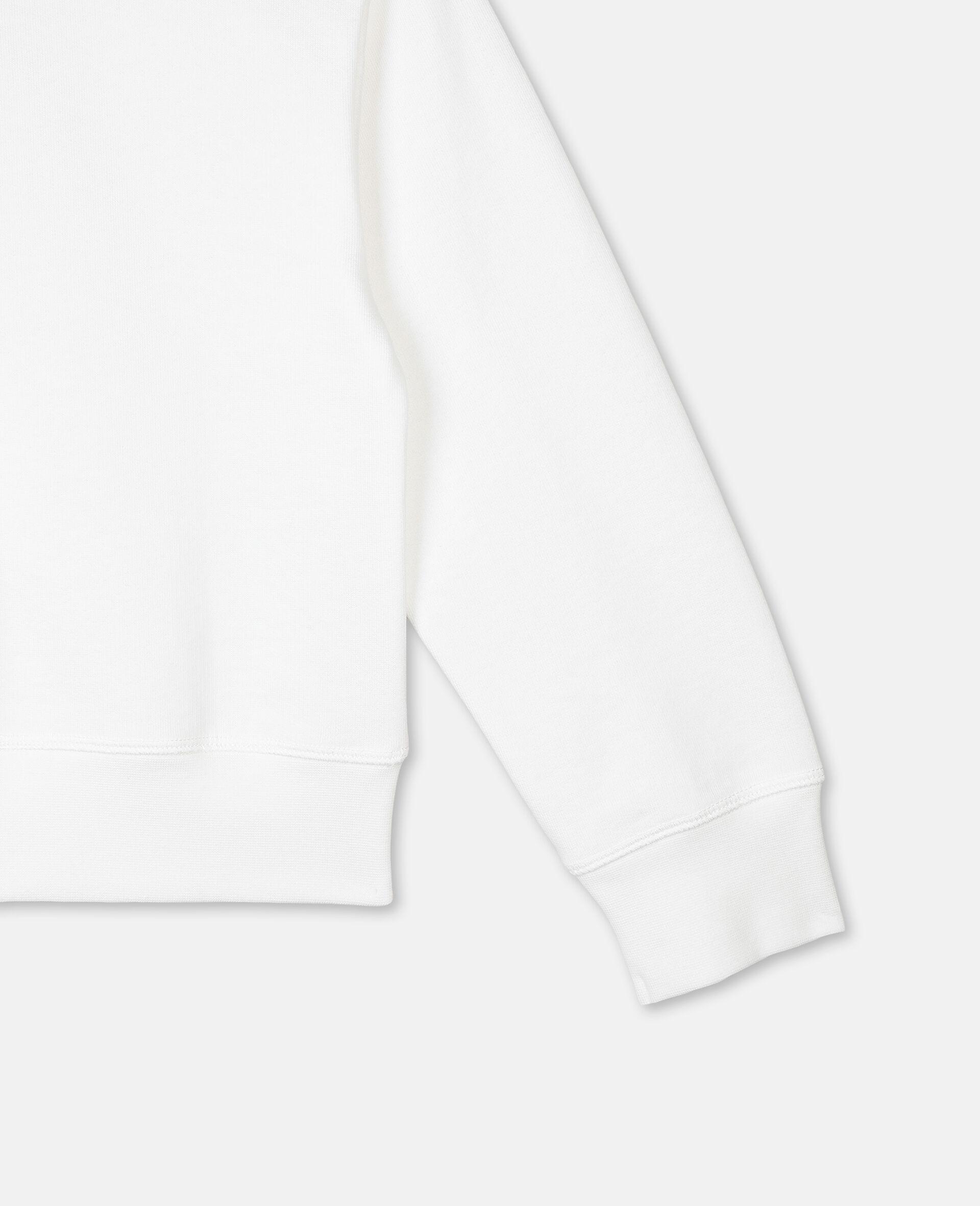 Sweat-shirt en molleton motif palmier et logo -Blanc-large image number 2