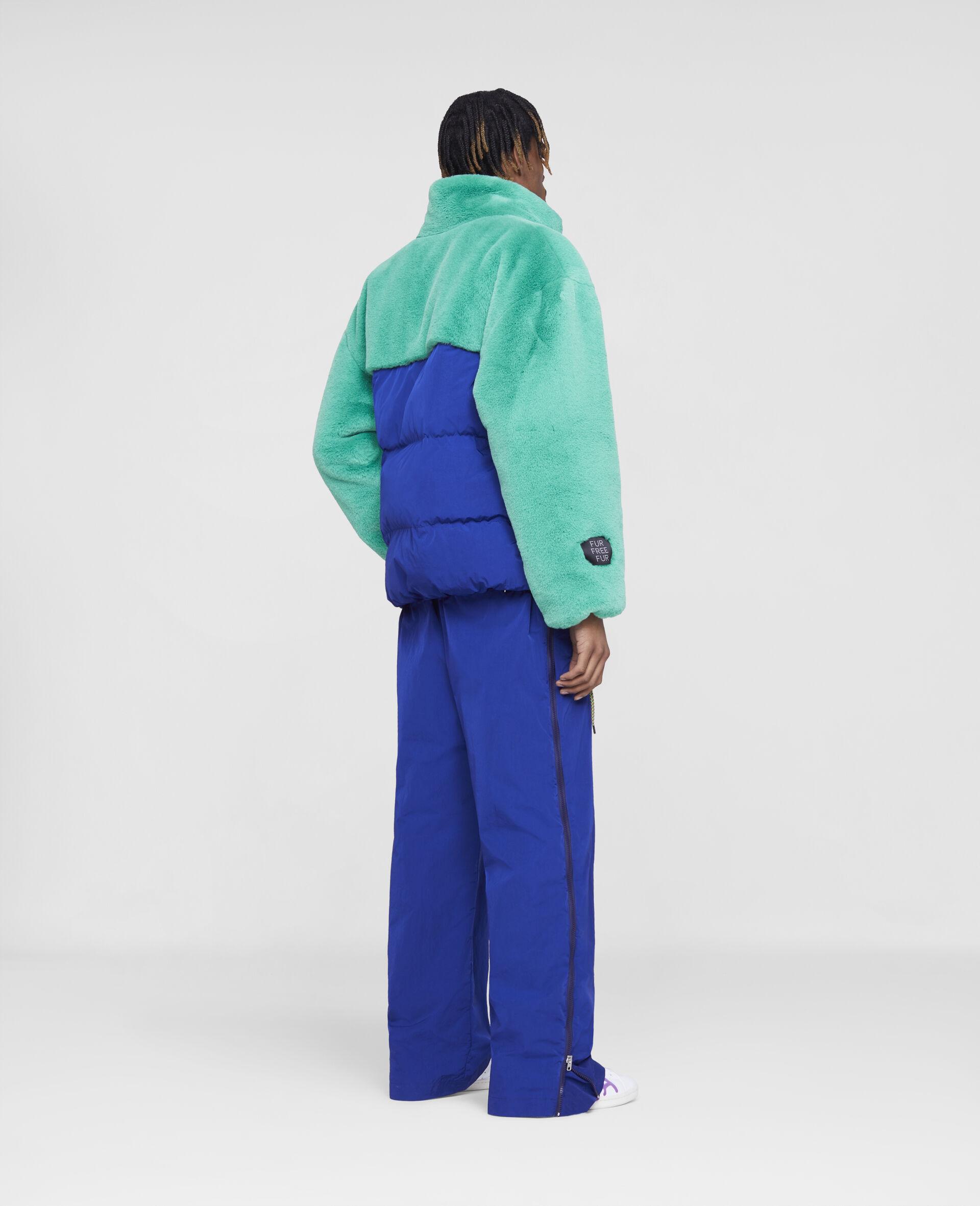 Veste hybride inspiree des annees 90 -Bleu-large image number 2