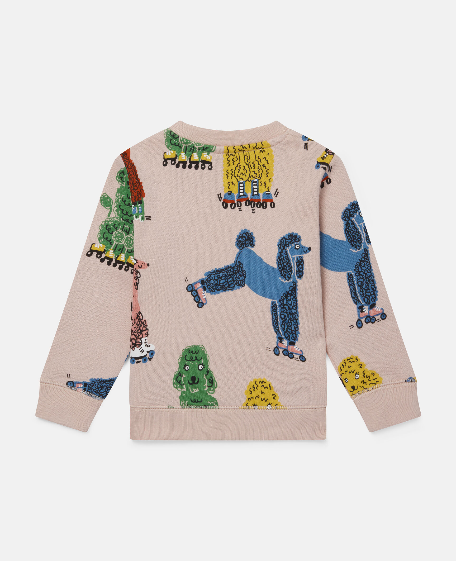 Sweatshirt aus Fleece mit Pudel-Print-Rose-large image number 3