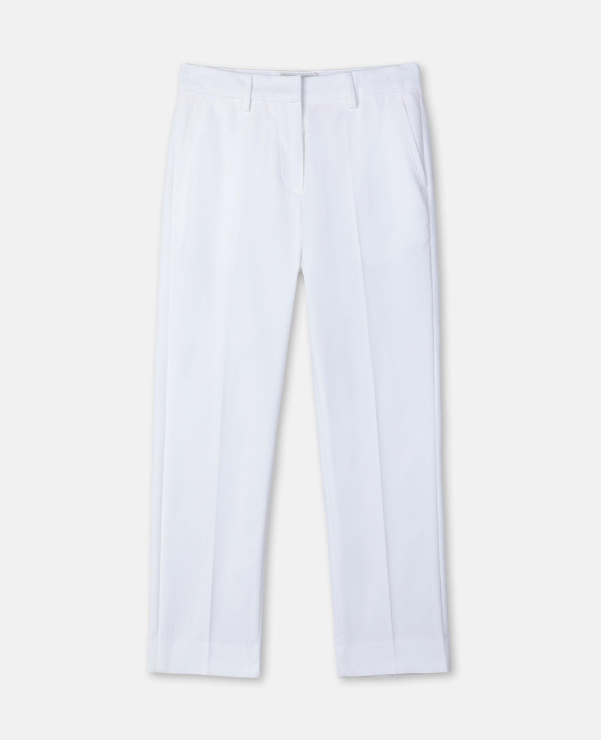 Cotton-Pique Suit Pants-White-large image number 0