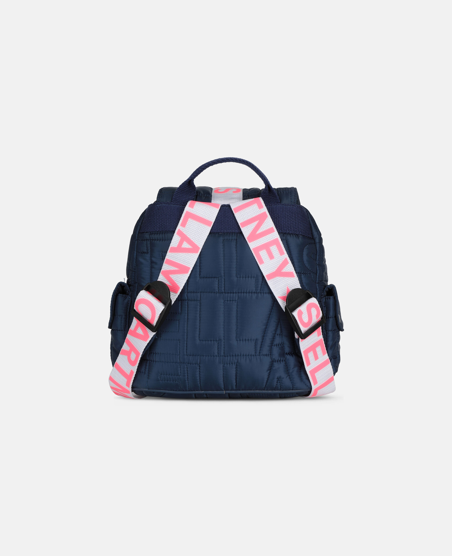 Logo Quilted Small Backpack-Blue-large image number 3