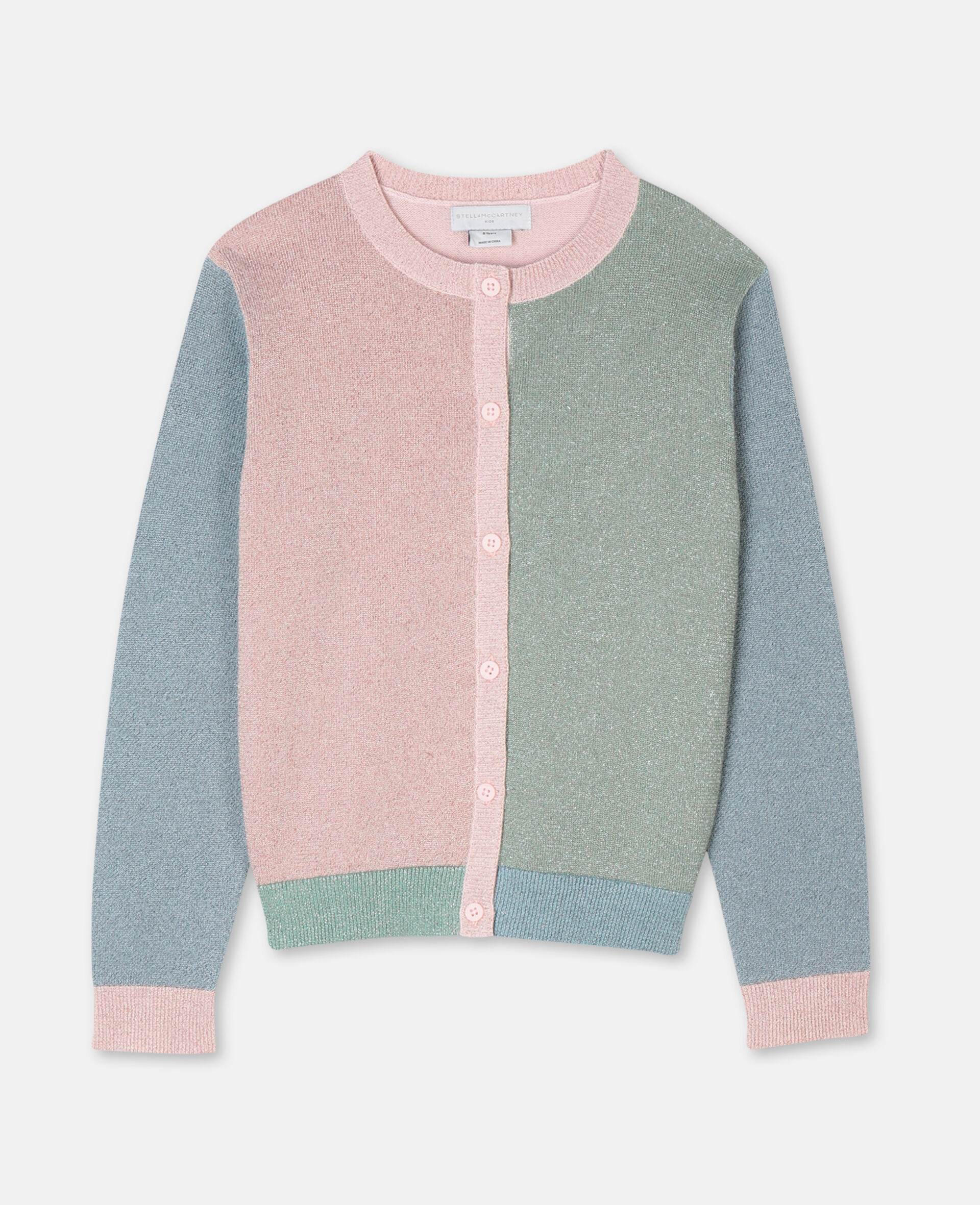 Multicolor Knit Cardigan -Pink-large image number 0