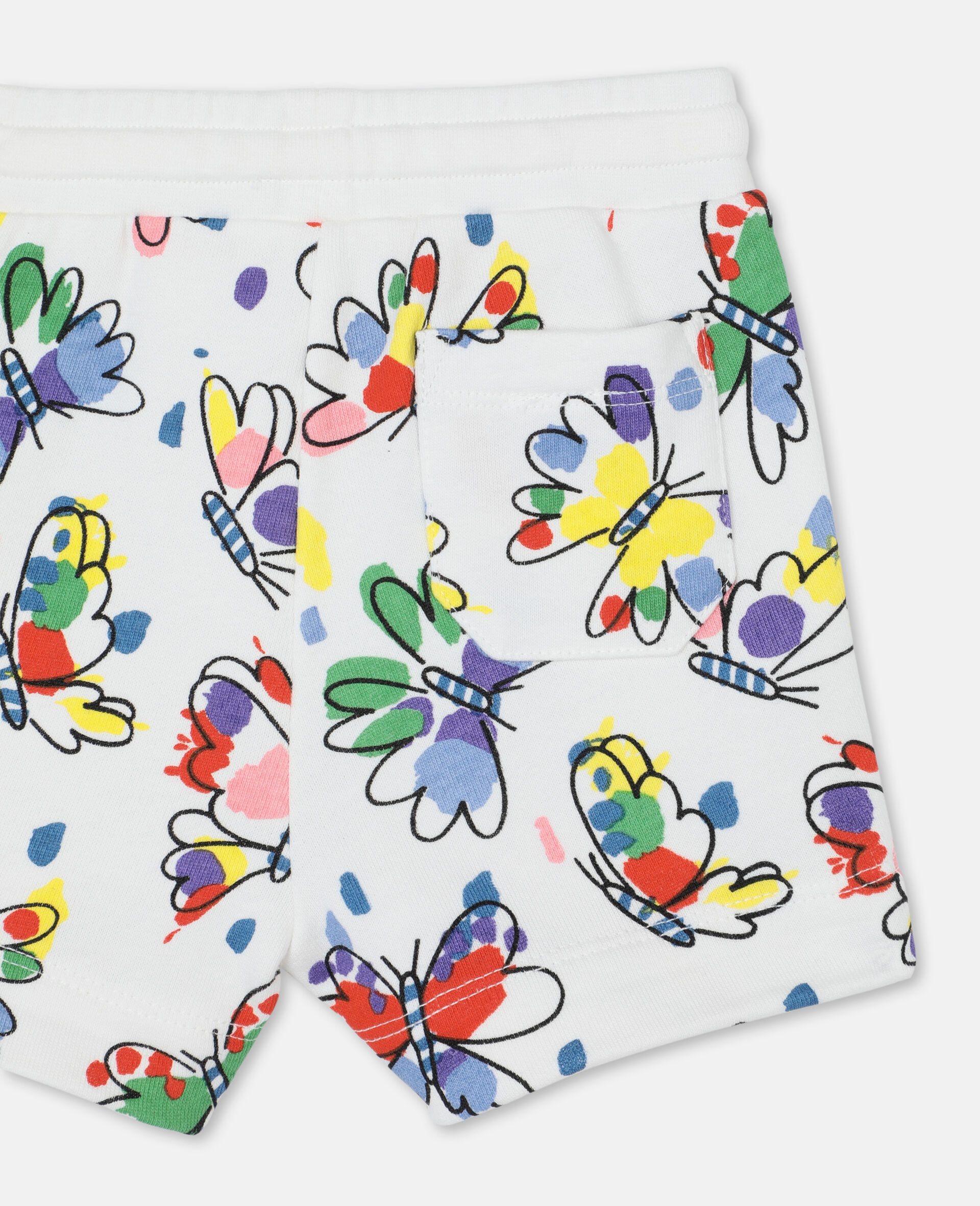 Baby Butterfly Cotton Shorts-Multicoloured-large image number 2