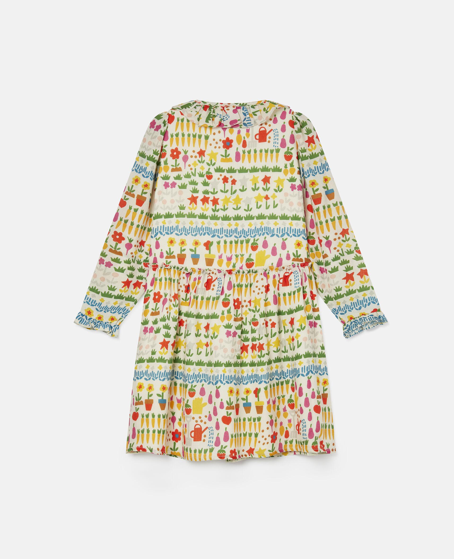 Kleid aus Wolle mit Garten-Print-Bunt-large image number 3