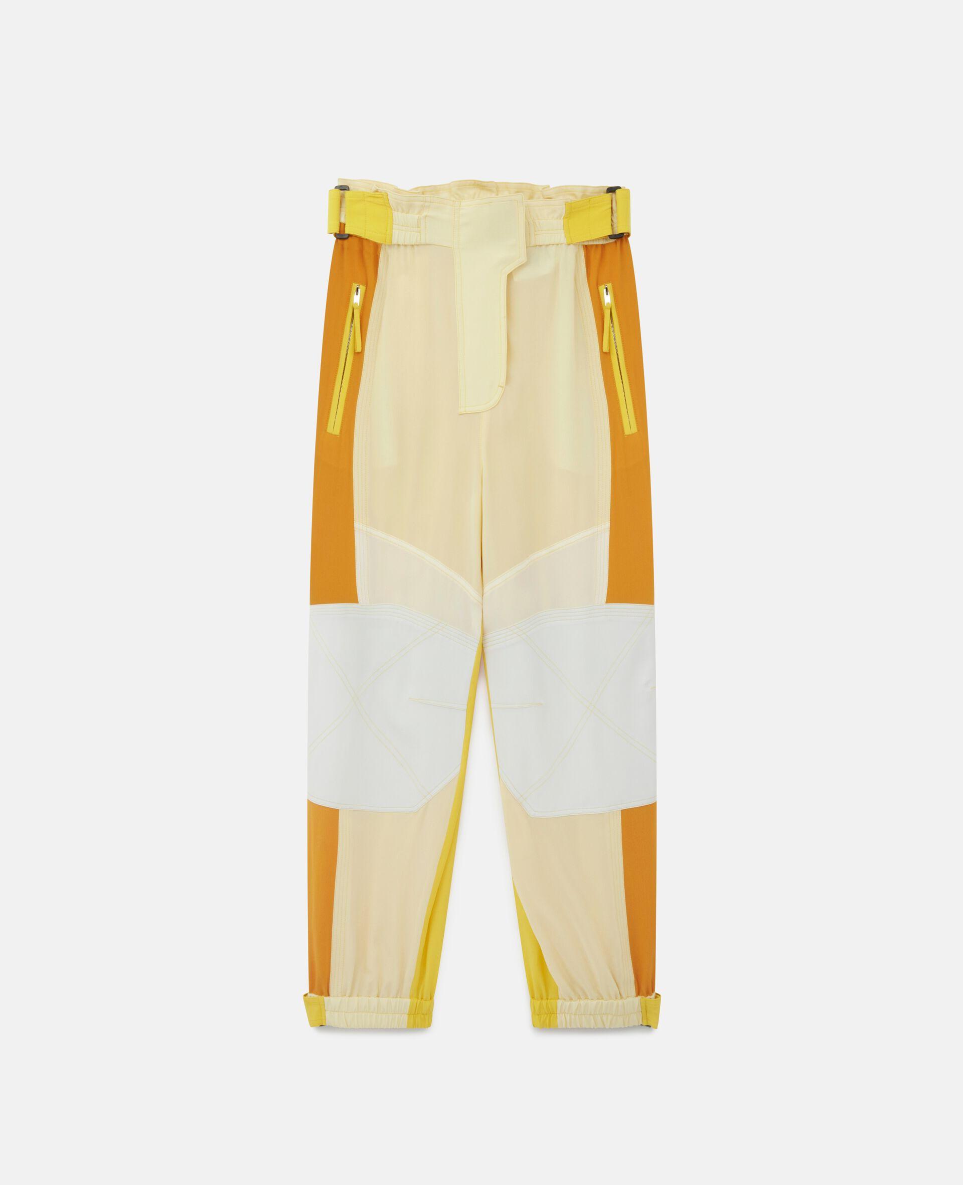 Pantalon en soie Lacey-Beige-large image number 0