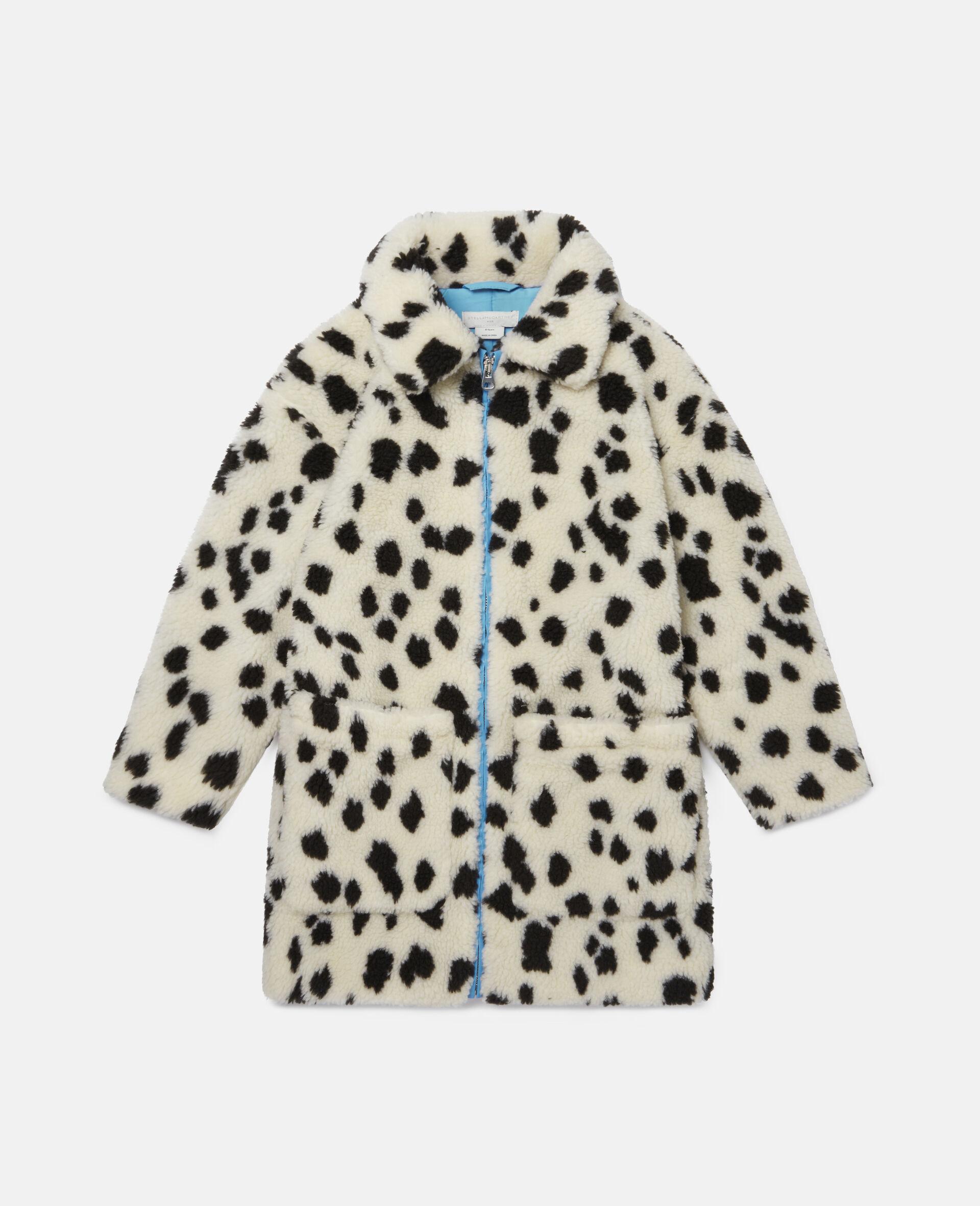 Manteau en Teddy motif dalmatien-Blanc-large image number 0