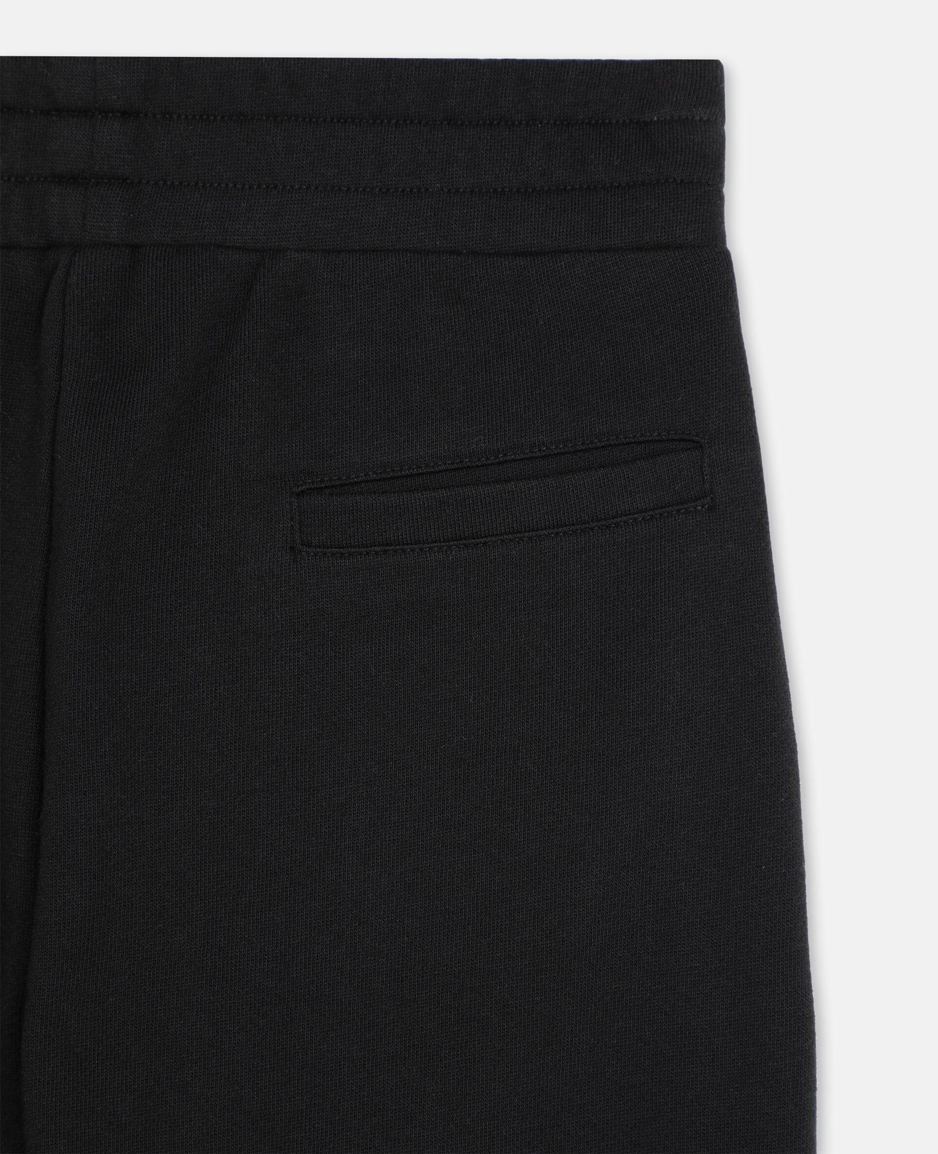 Basic Cotton Sweatpants -Black-large image number 2