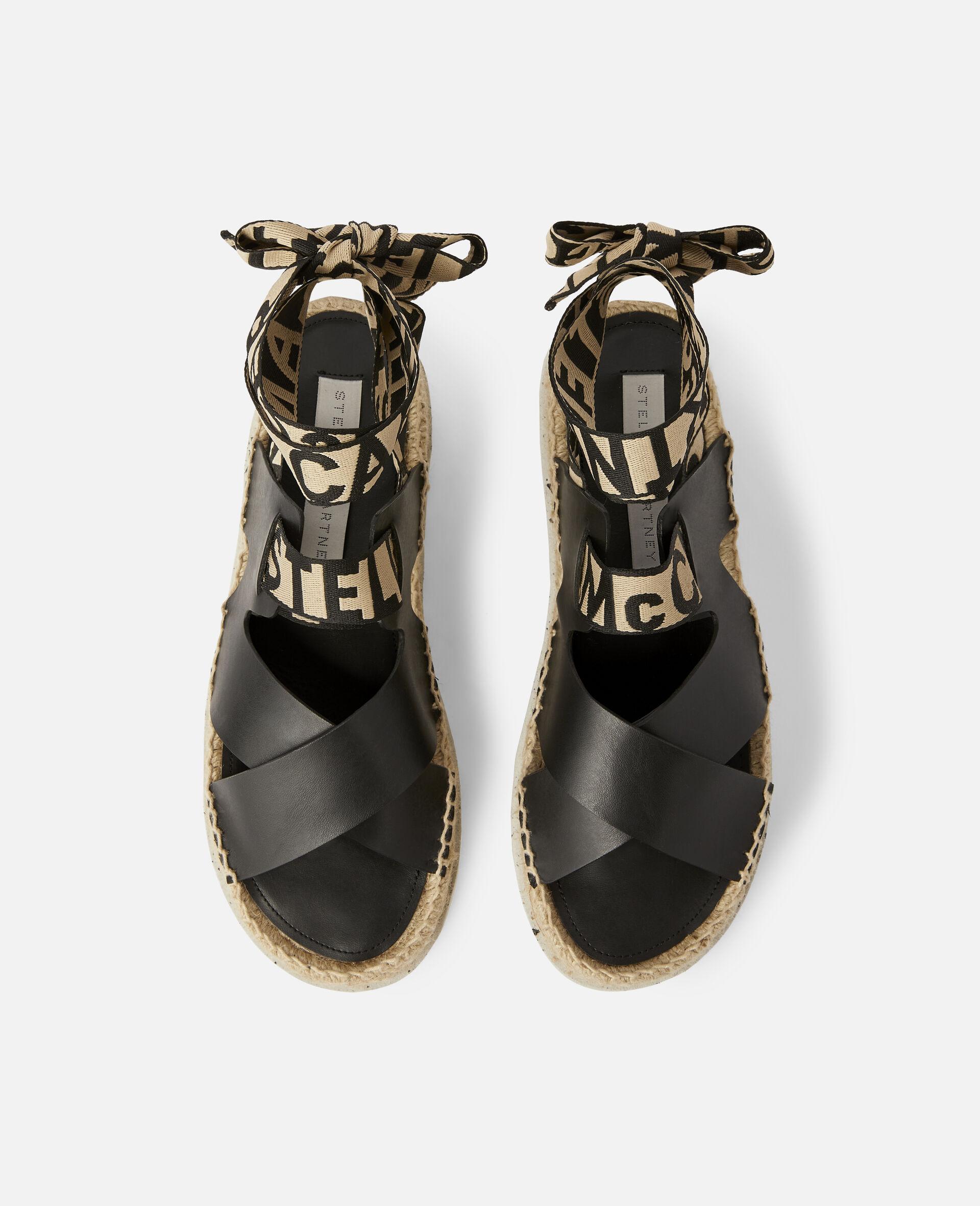 Gaia Alter Mat Sandals-Black-large image number 3