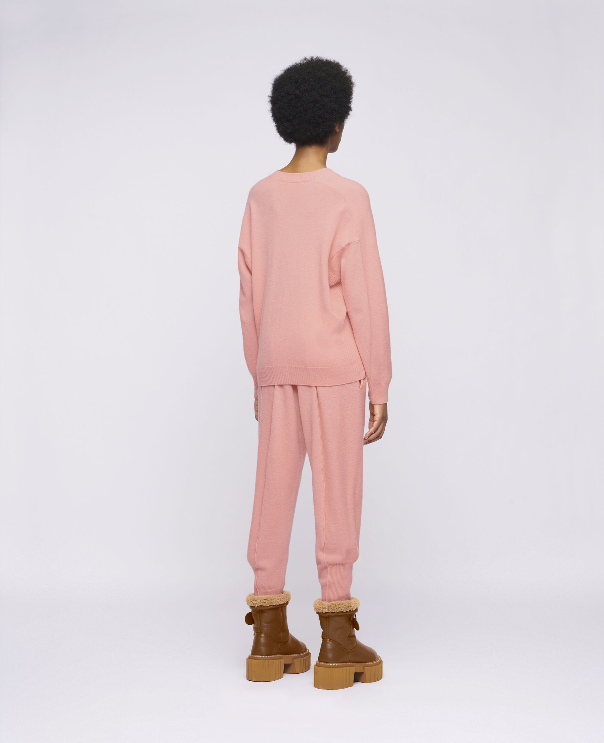 Knit Trousers -Orange-large image number 2
