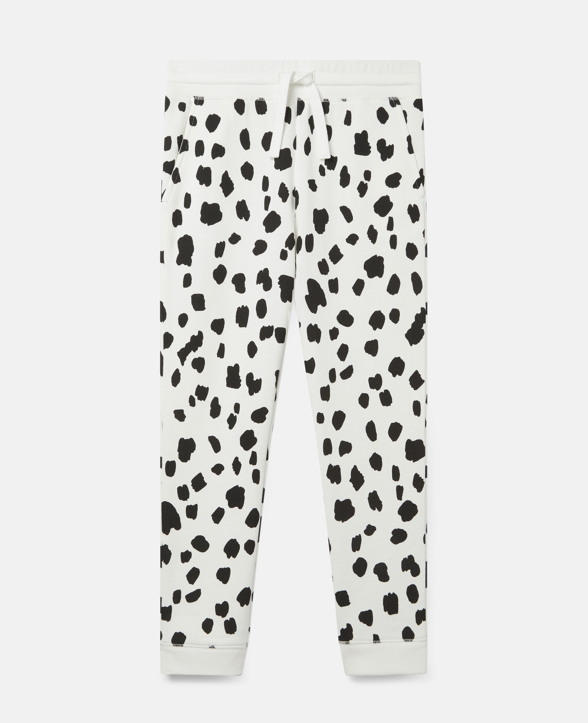 Dalmatian Spots Corduroy Trousers-White-large image number 0