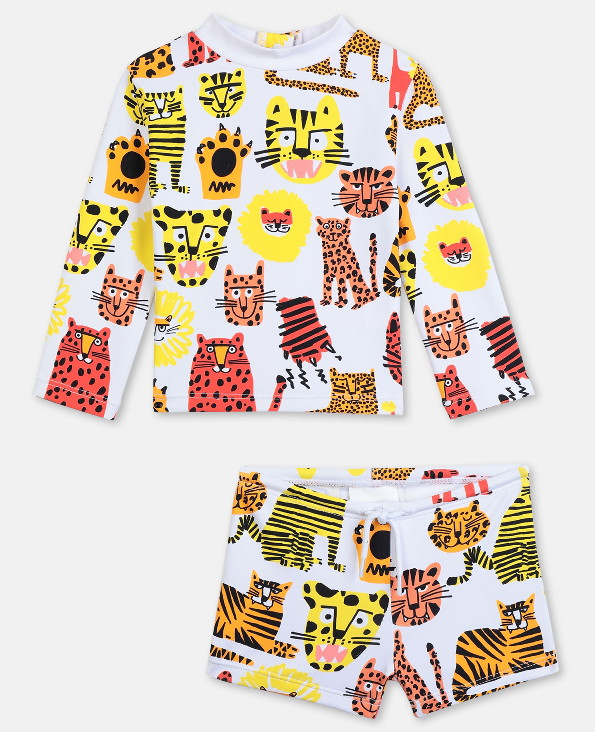 Wild Cats Swim Set -Yellow-large image number 0
