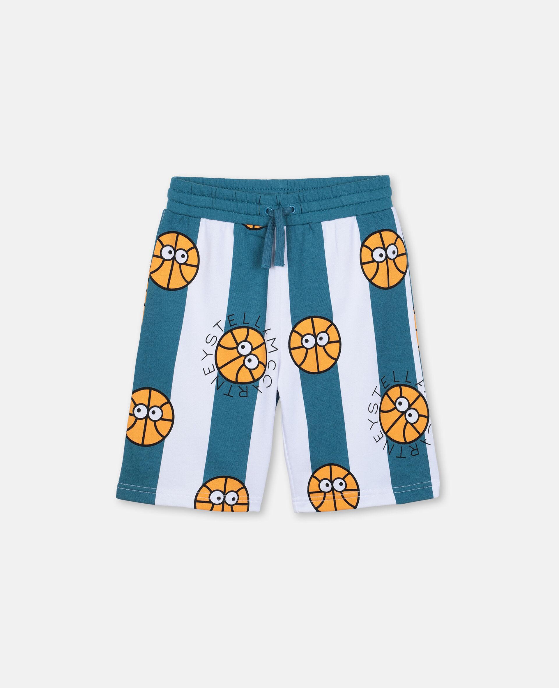 Basketball Cotton Shorts -Multicolour-large image number 0