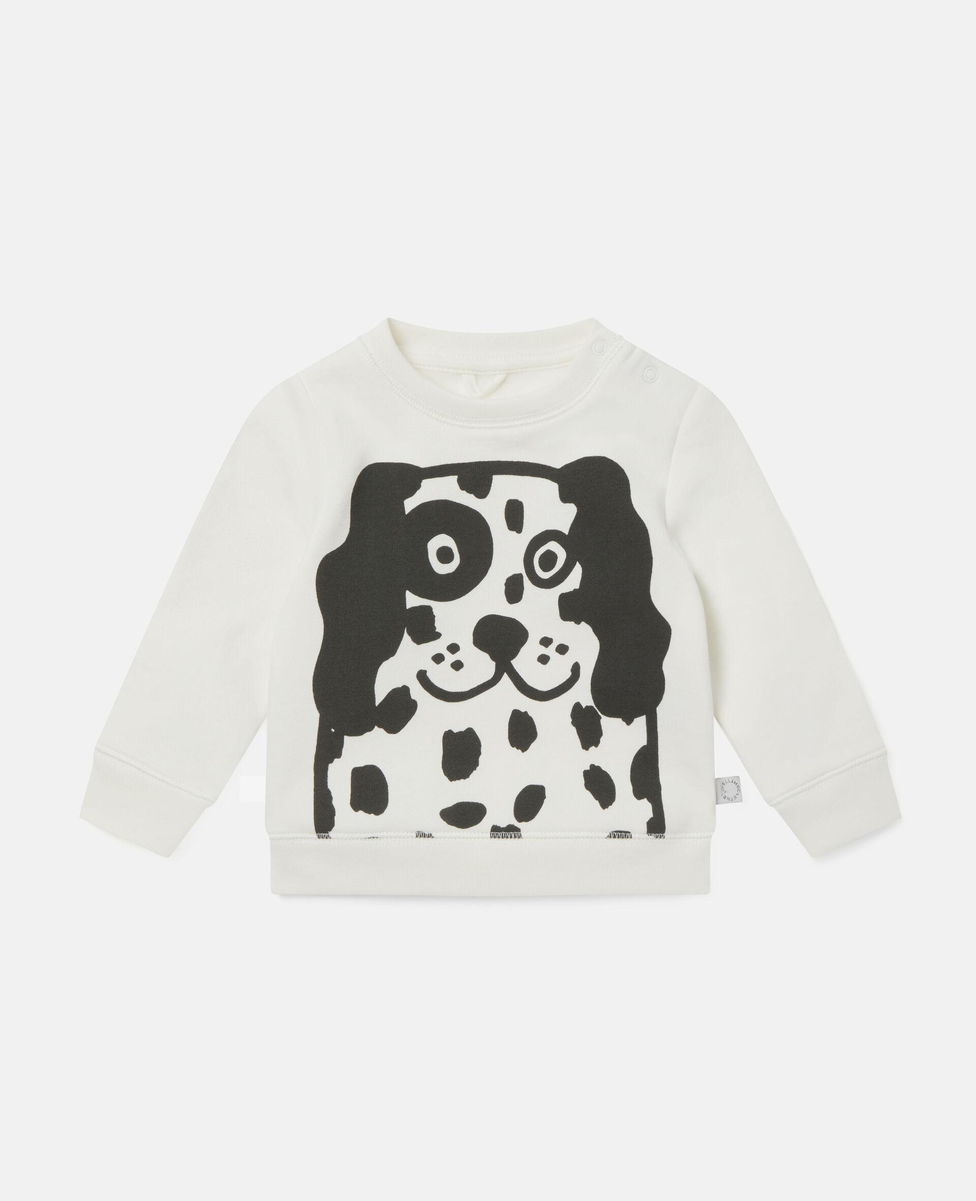 Dalmatian Sports Fleece Sweatshirt-White-large image number 0