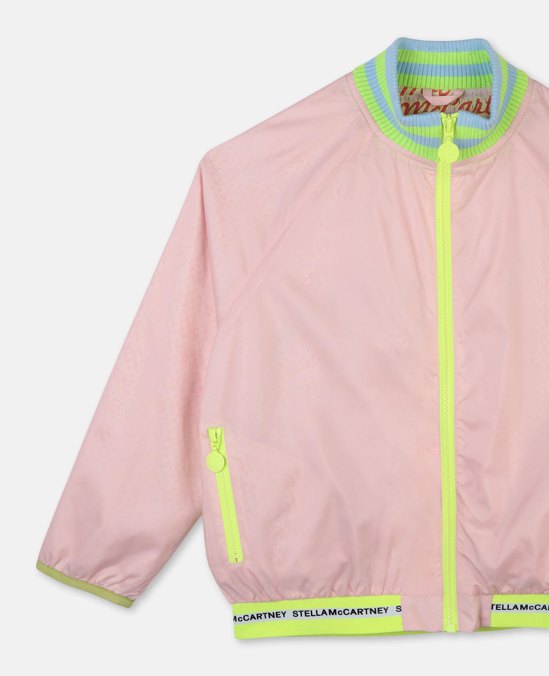 Logo Active Jacket -Pink-large image number 1