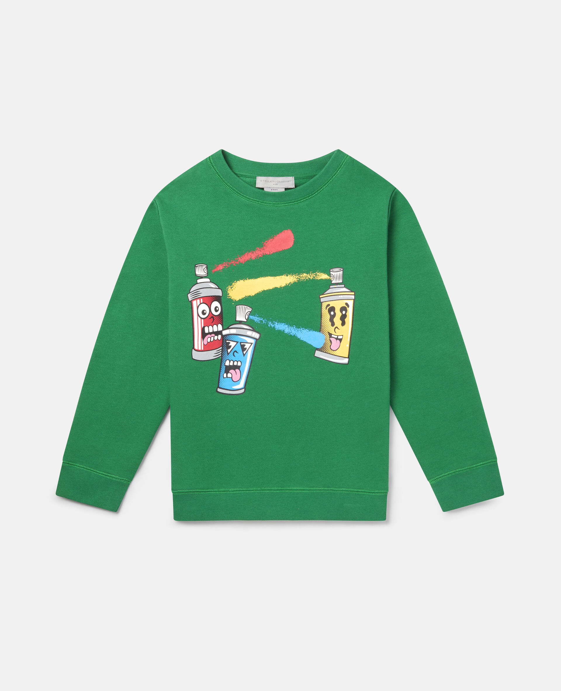 Spray Gang Fleece Sweatshirt-Green-large image number 0