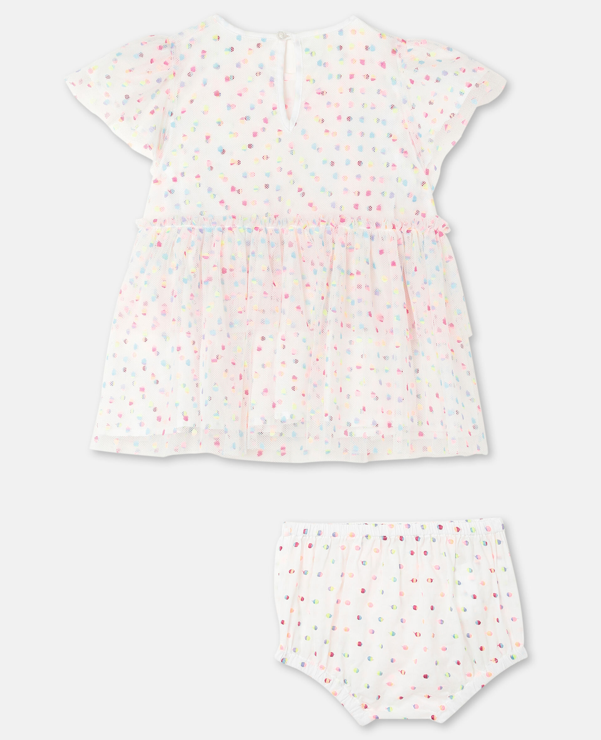 Embroidered Dots Tulle Dress -Multicoloured-large image number 3
