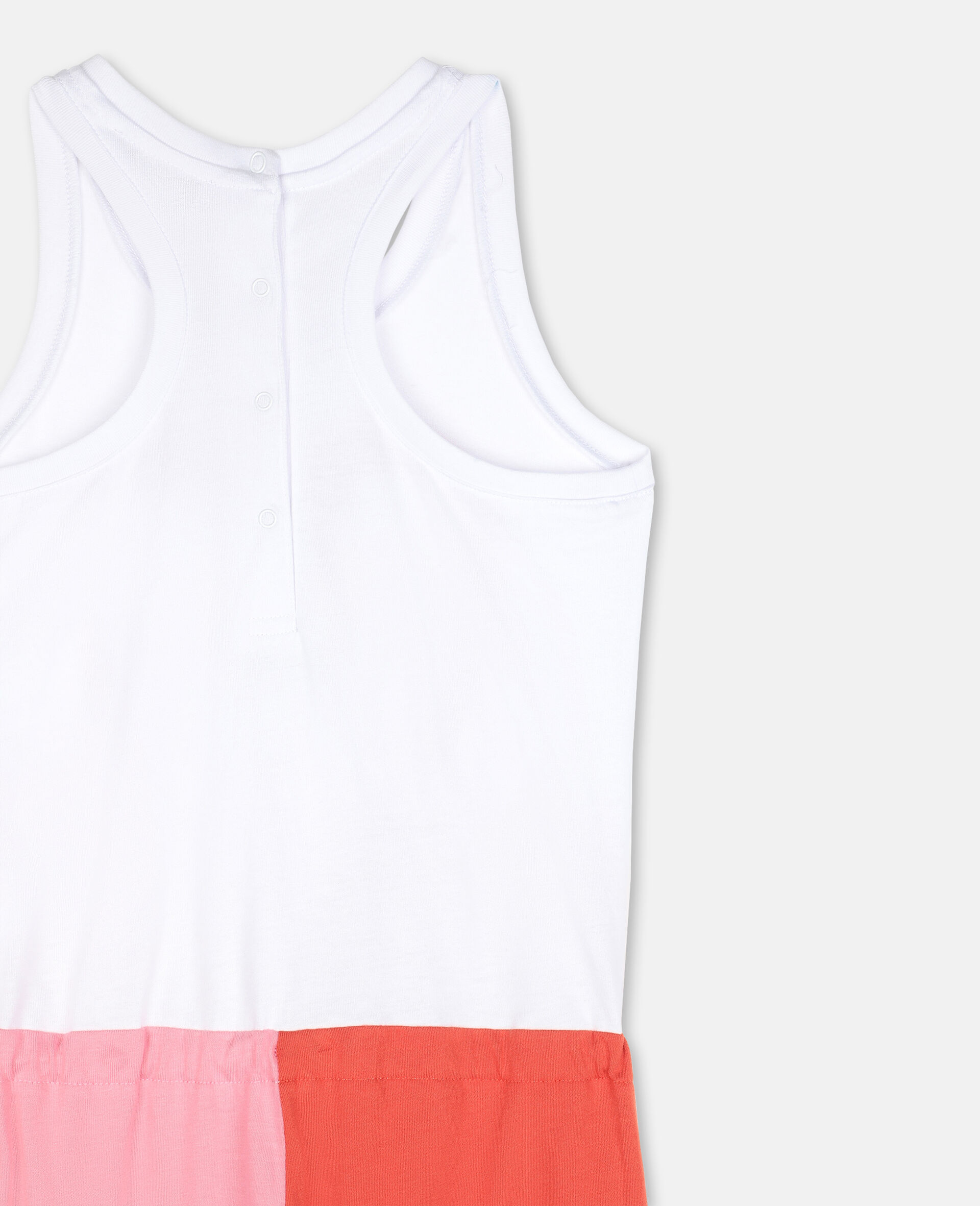 Flamingo Cotton Jumpsuit-White-large image number 2
