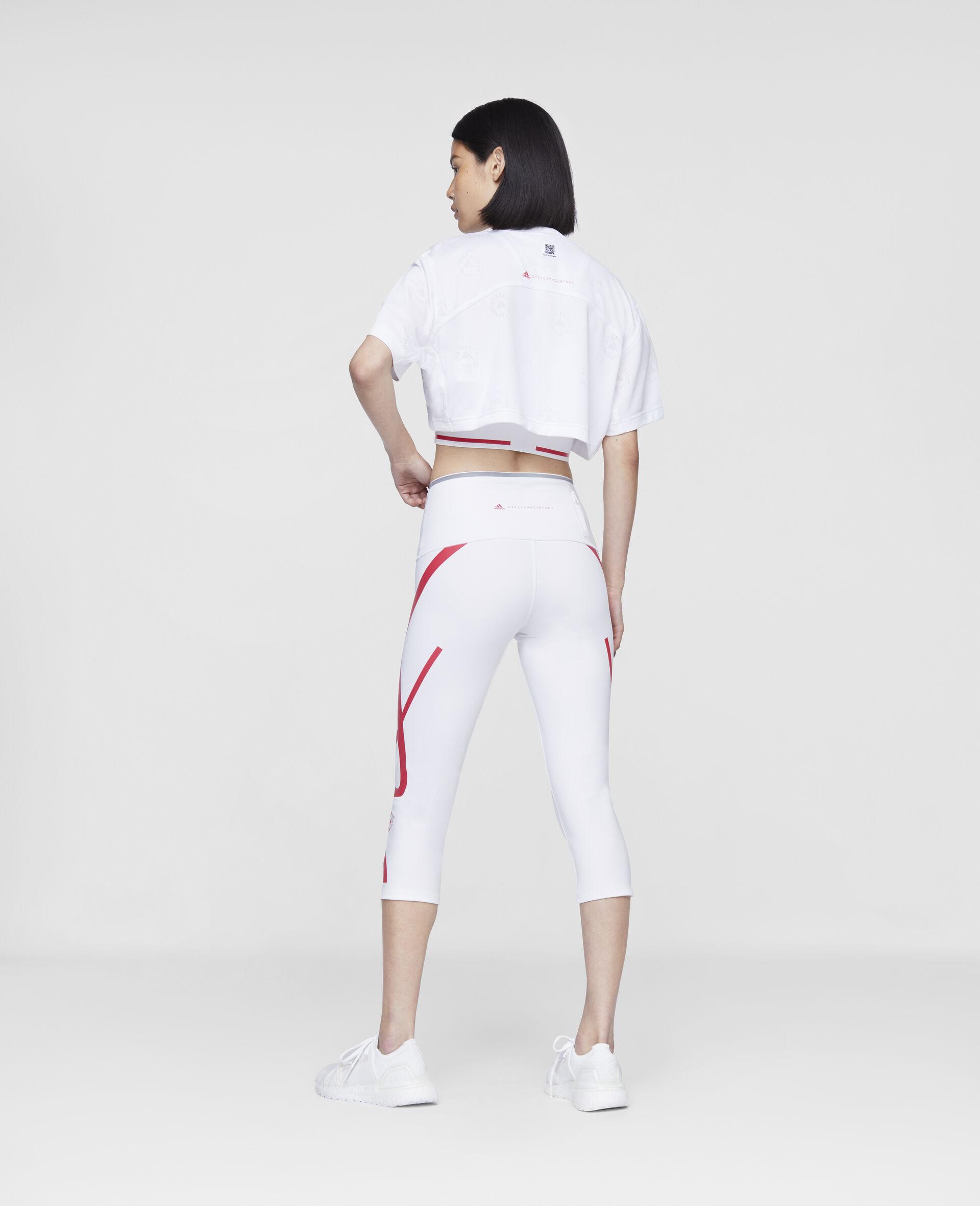 Legging de course 3/4 TruePace-Blanc-large image number 2