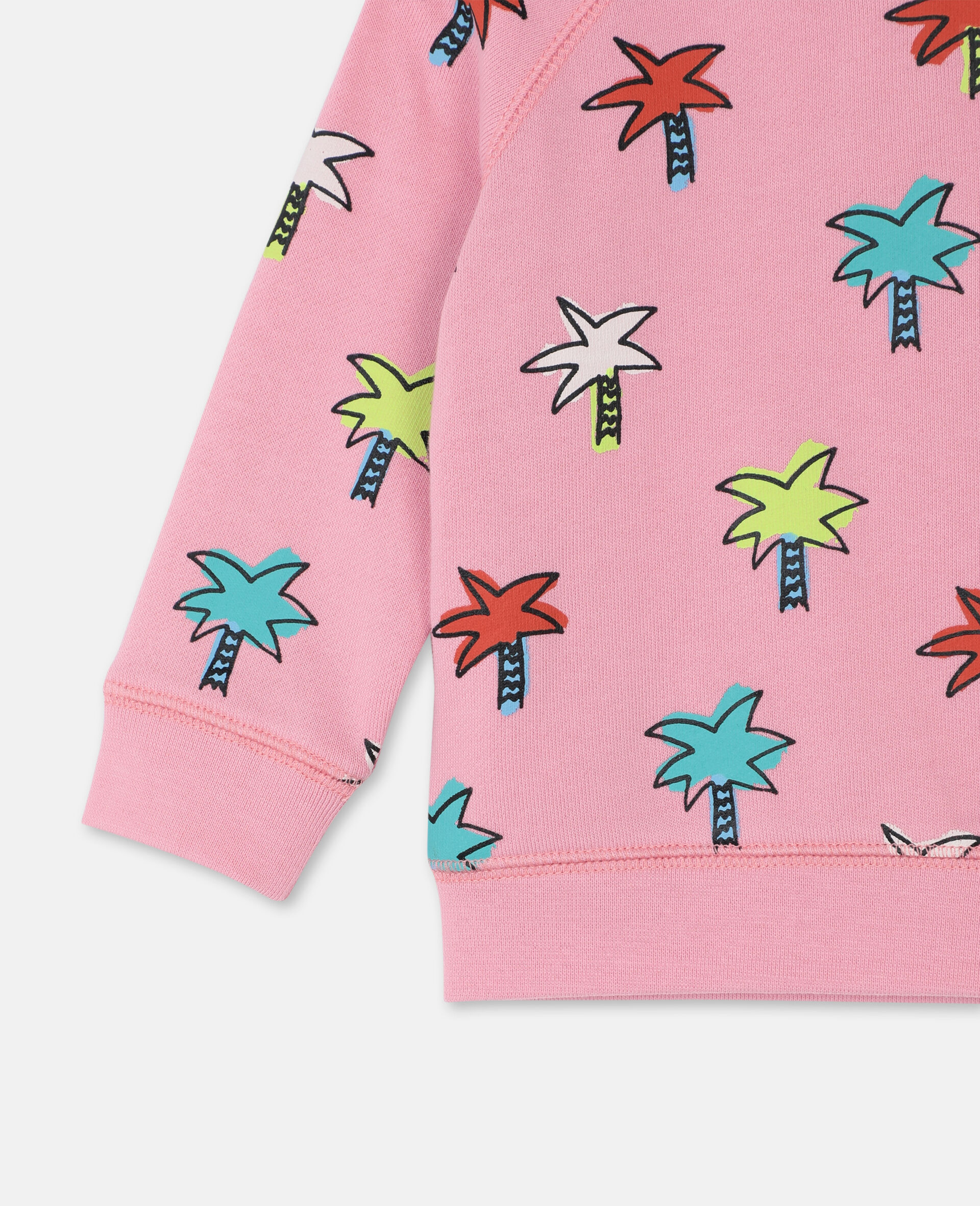 Doodly Palms Cotton Sweatshirt -Pink-large image number 2