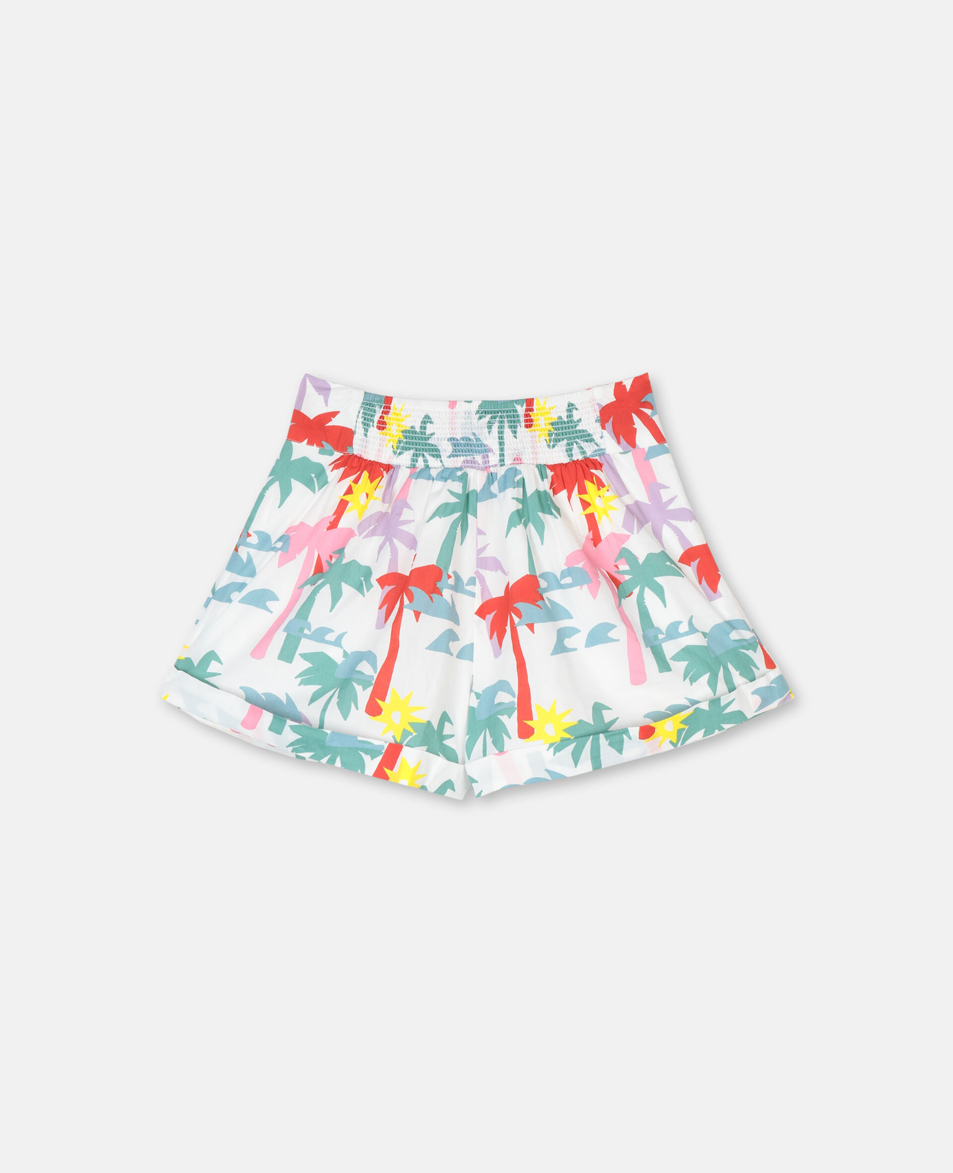 Palm Cotton Shorts-Multicolour-large image number 3