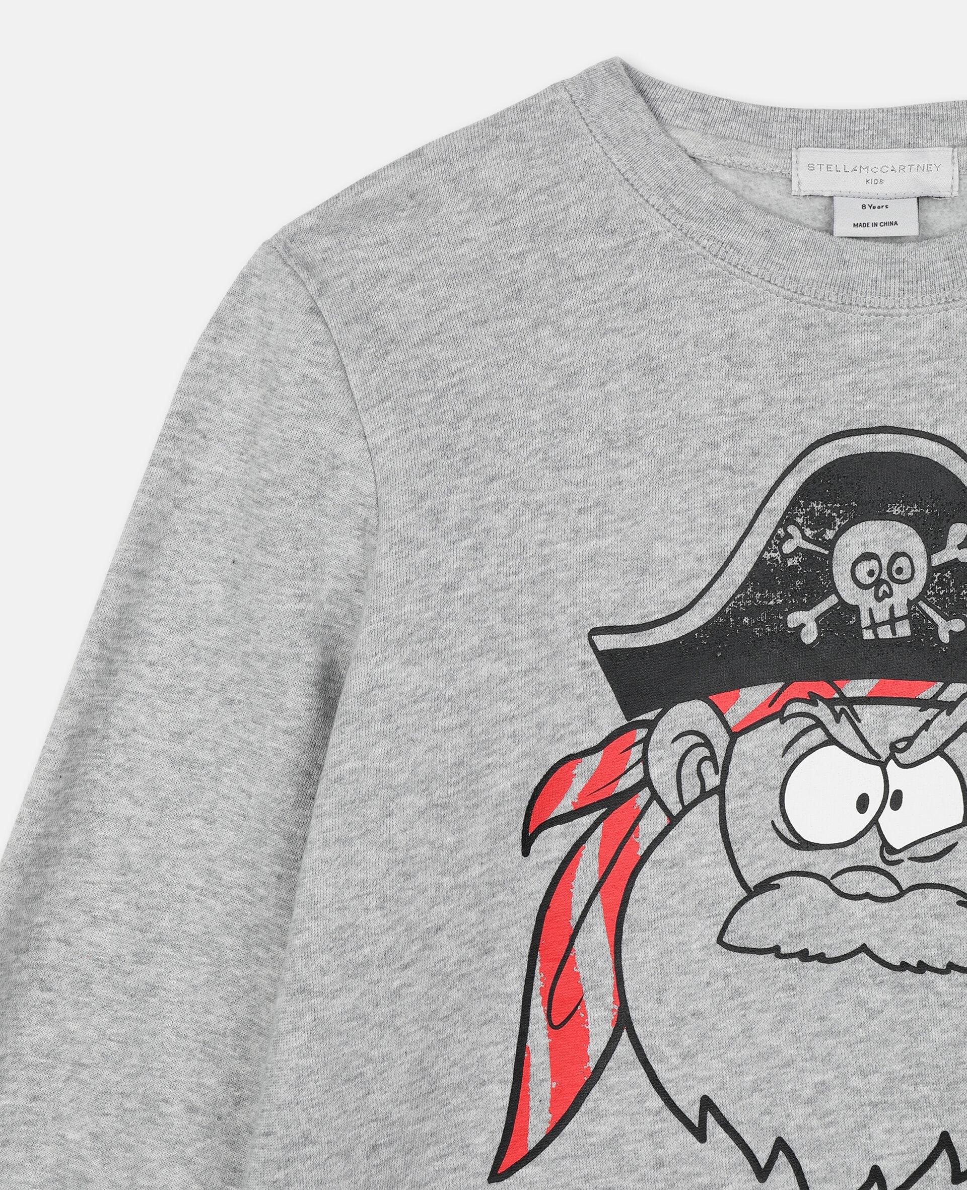 Pirate Cotton Sweatshirt -Grey-large image number 2
