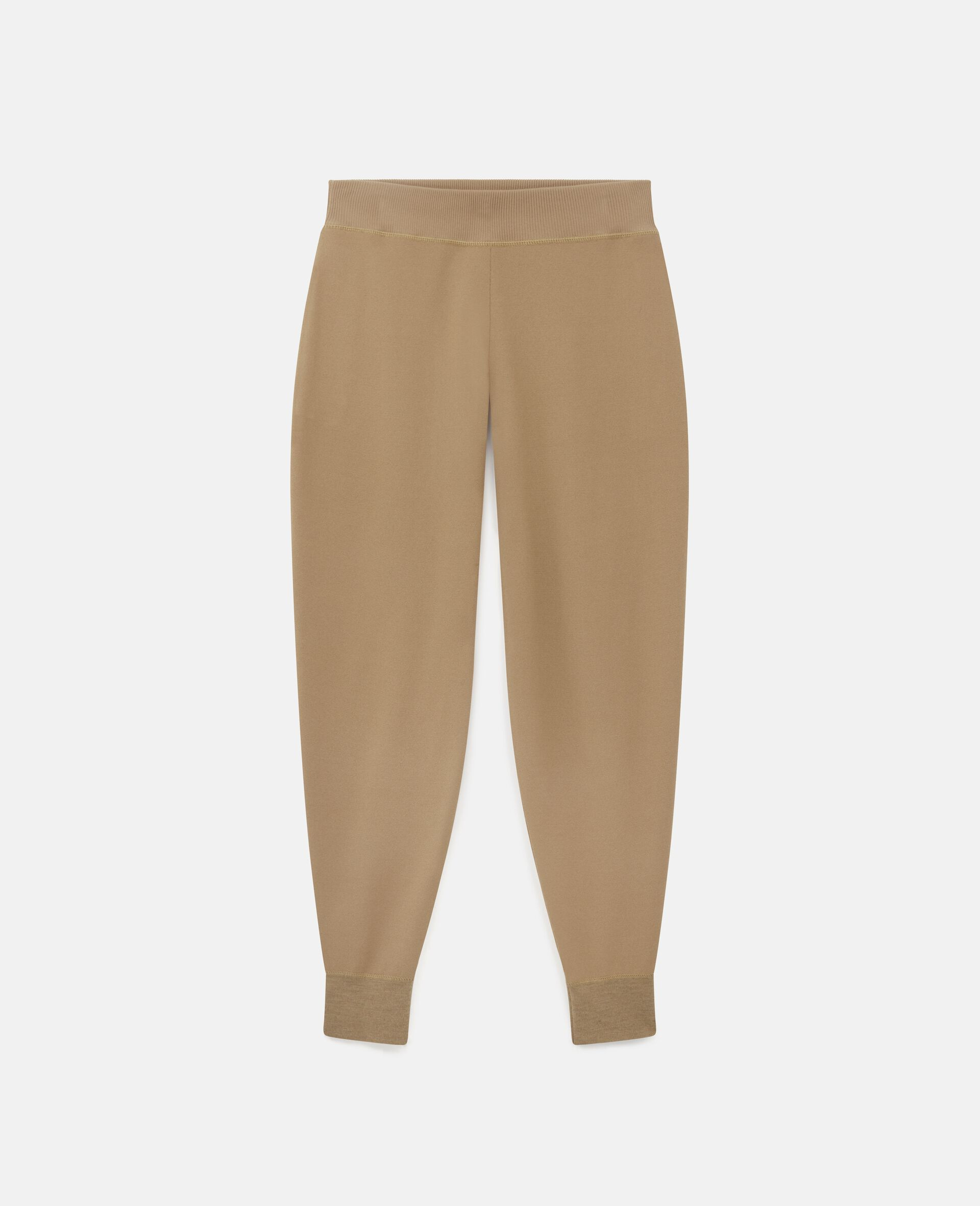 Compact Knit Trousers-Brown-large image number 0