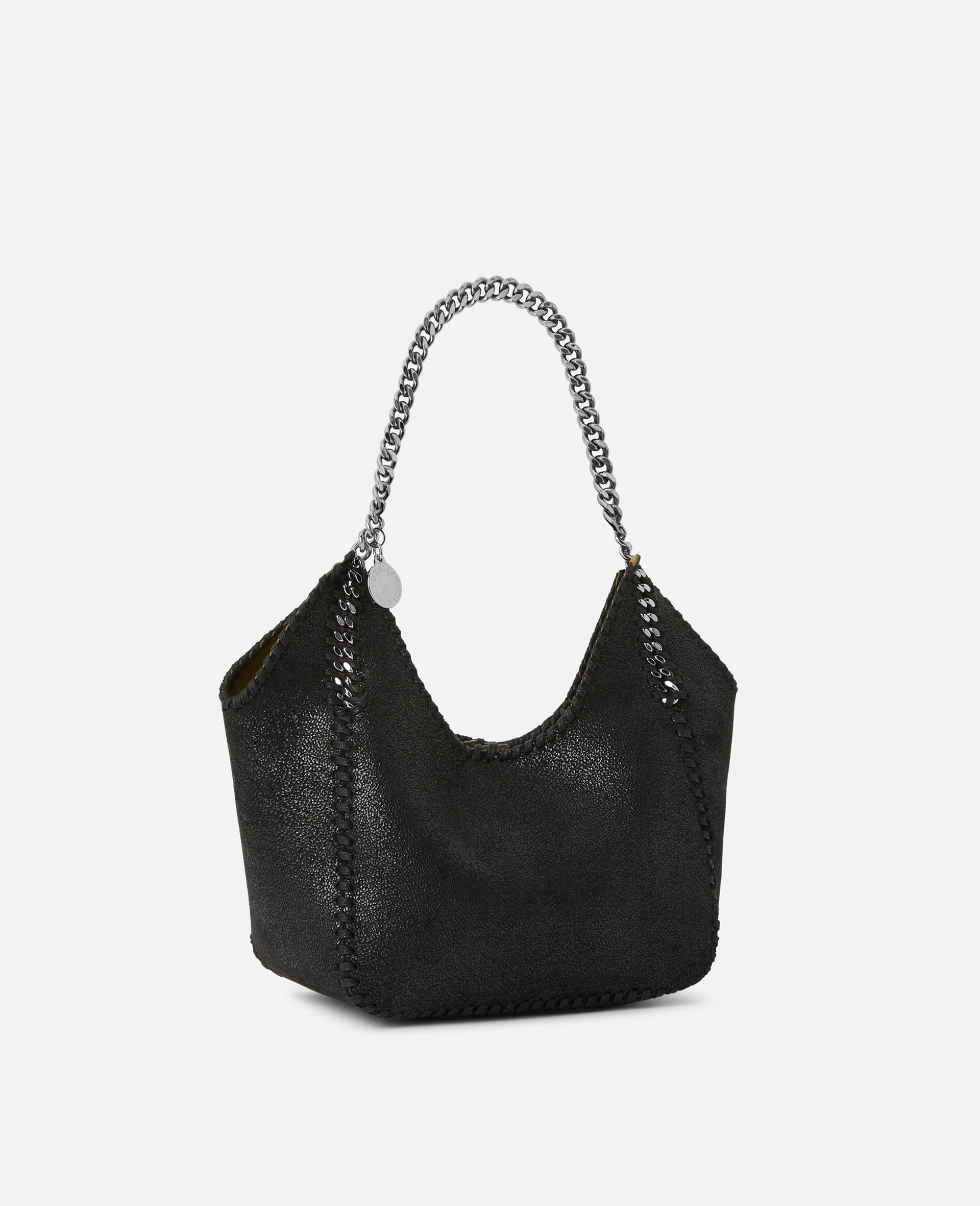 Mini Falabella Tote Bag -Black-large image number 1