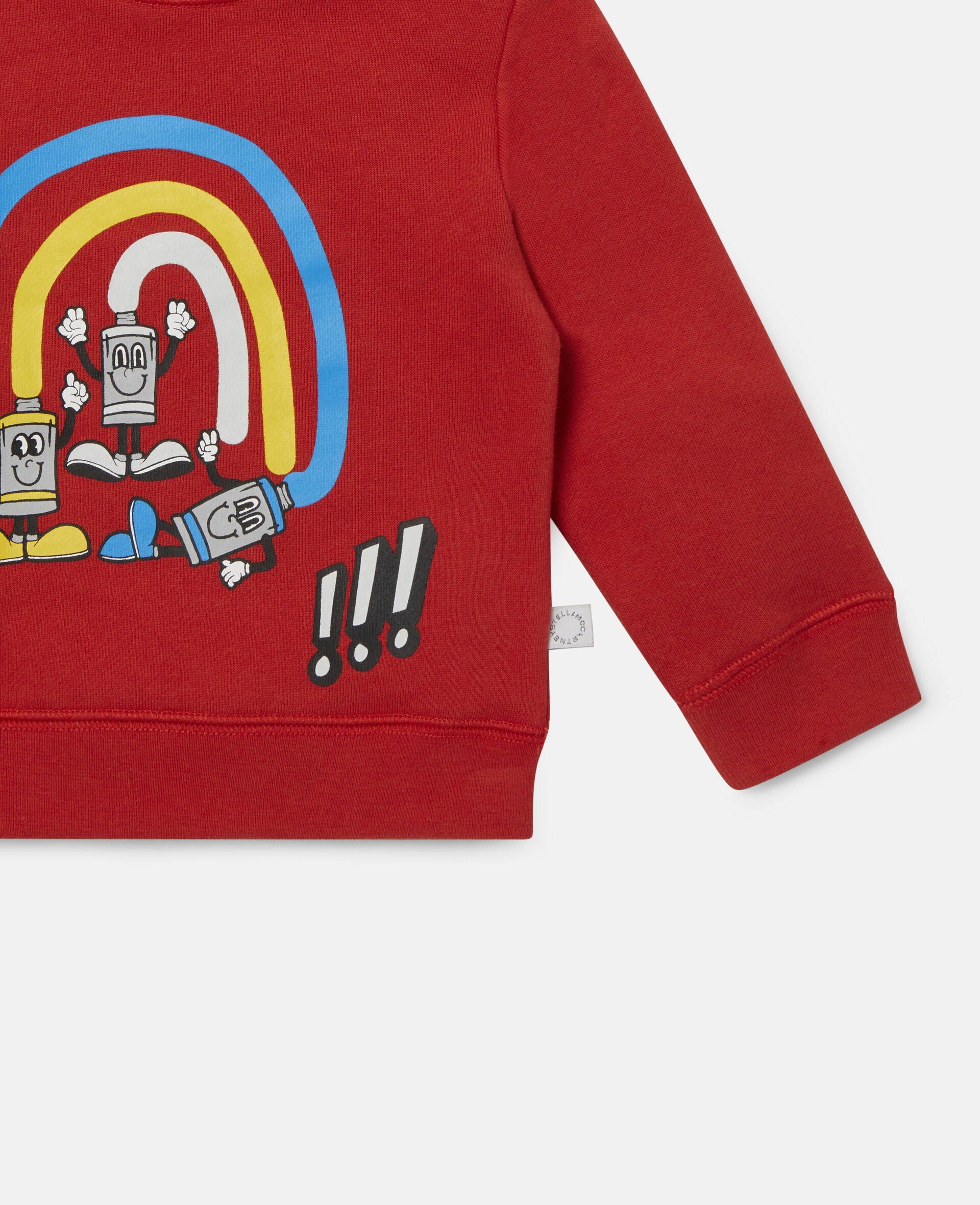 Rainbow Painting Tubes Fleece Sweatshirt-Red-large image number 2